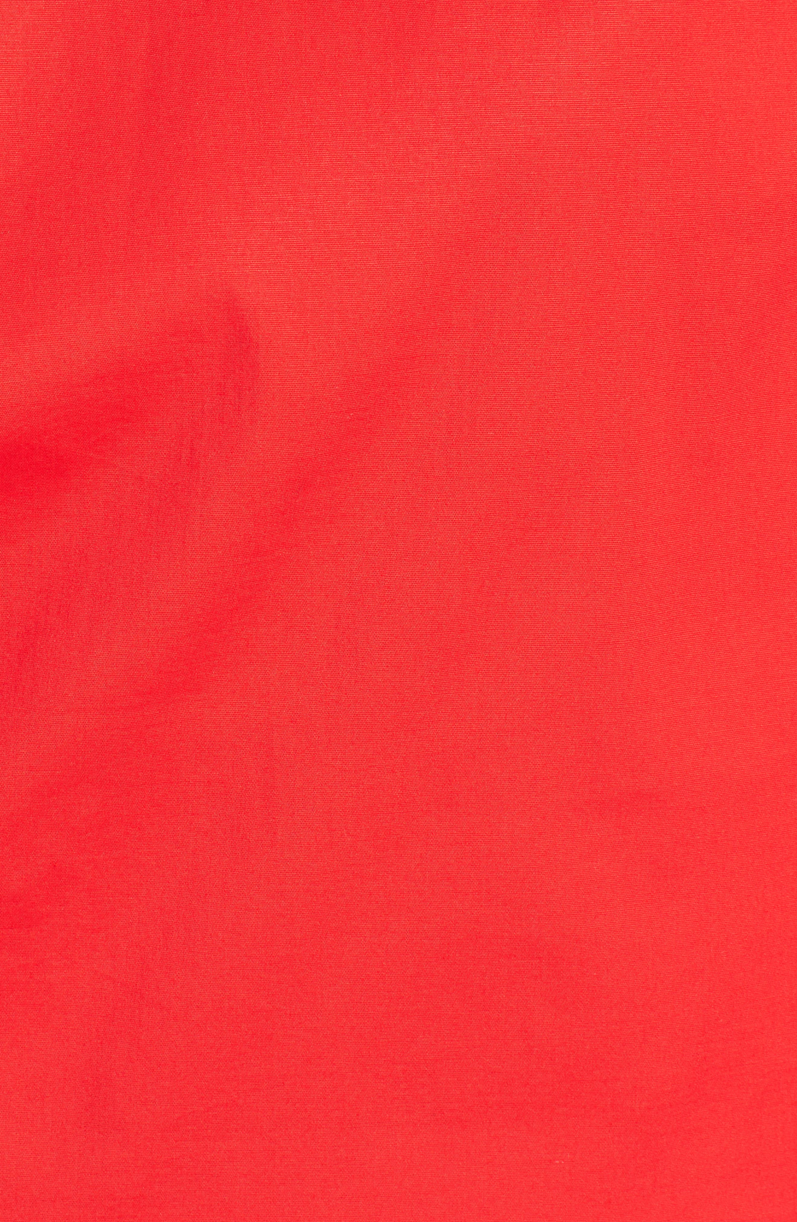 Leah Blouson Sleeve Top,                             Alternate thumbnail 6, color,                             Fiery Red