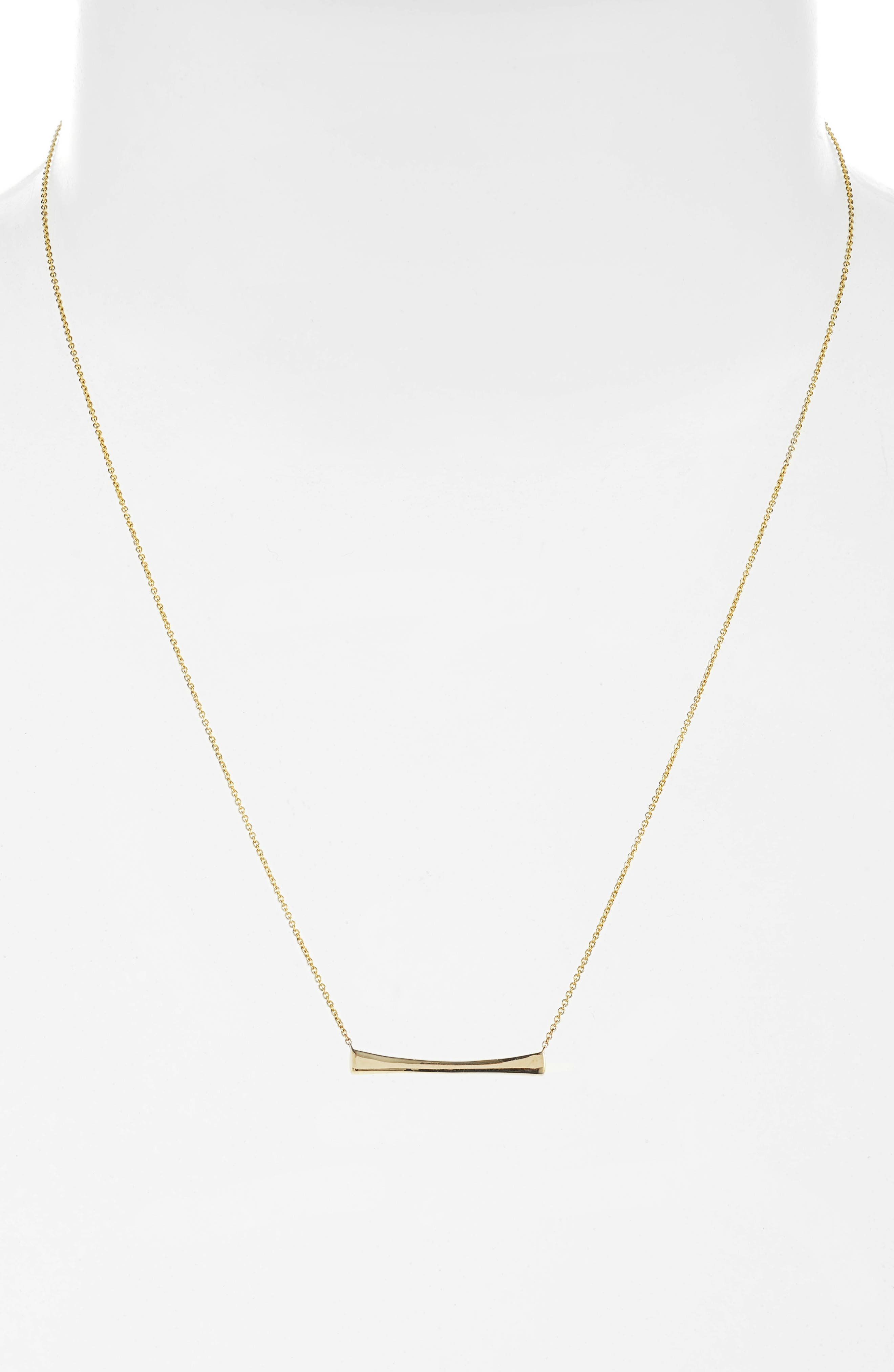 Curved Bar Pendant Necklace,                         Main,                         color, Yellow Gold