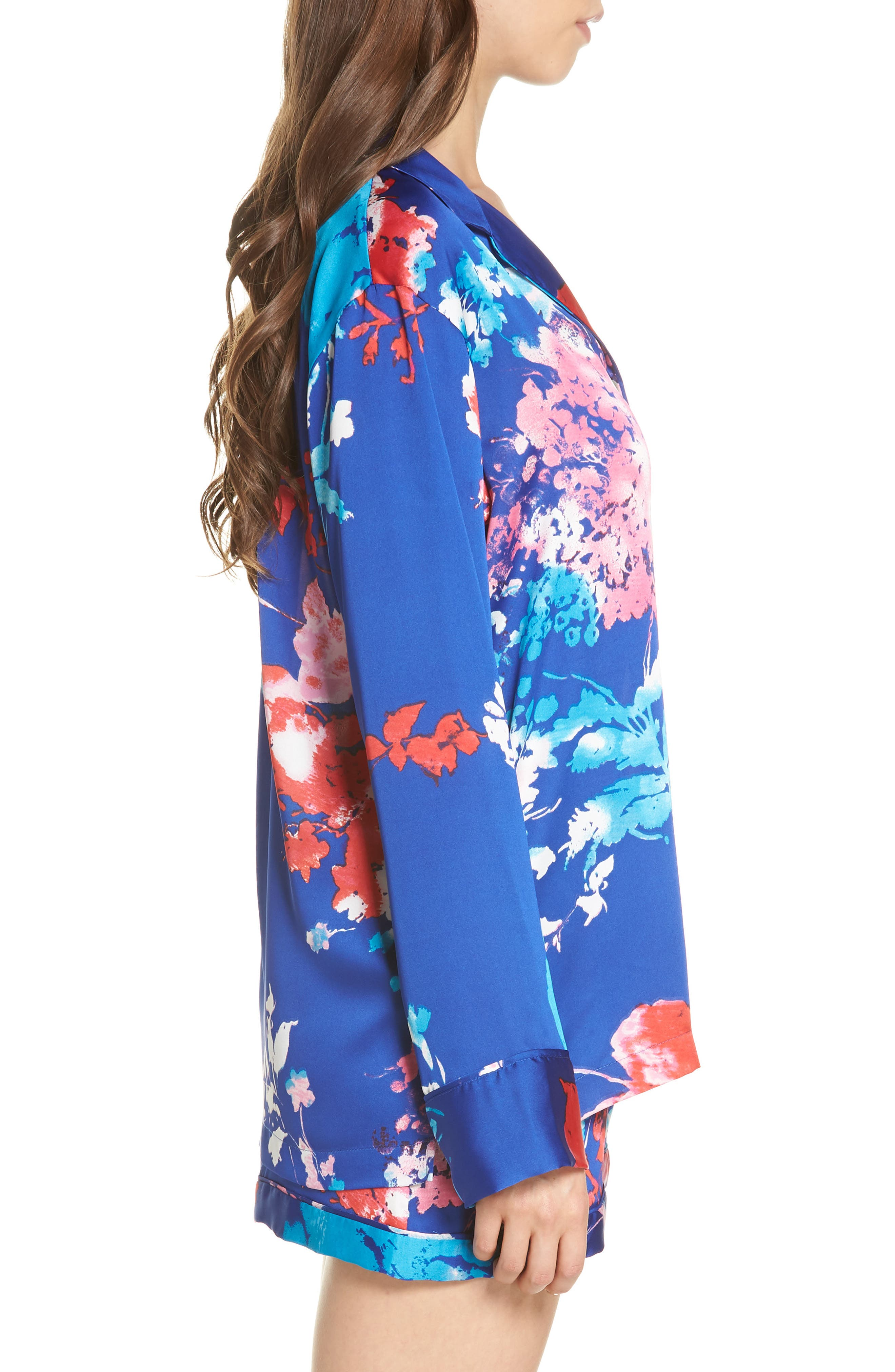 Fiji Short Pajamas,                             Alternate thumbnail 3, color,                             Cobalt