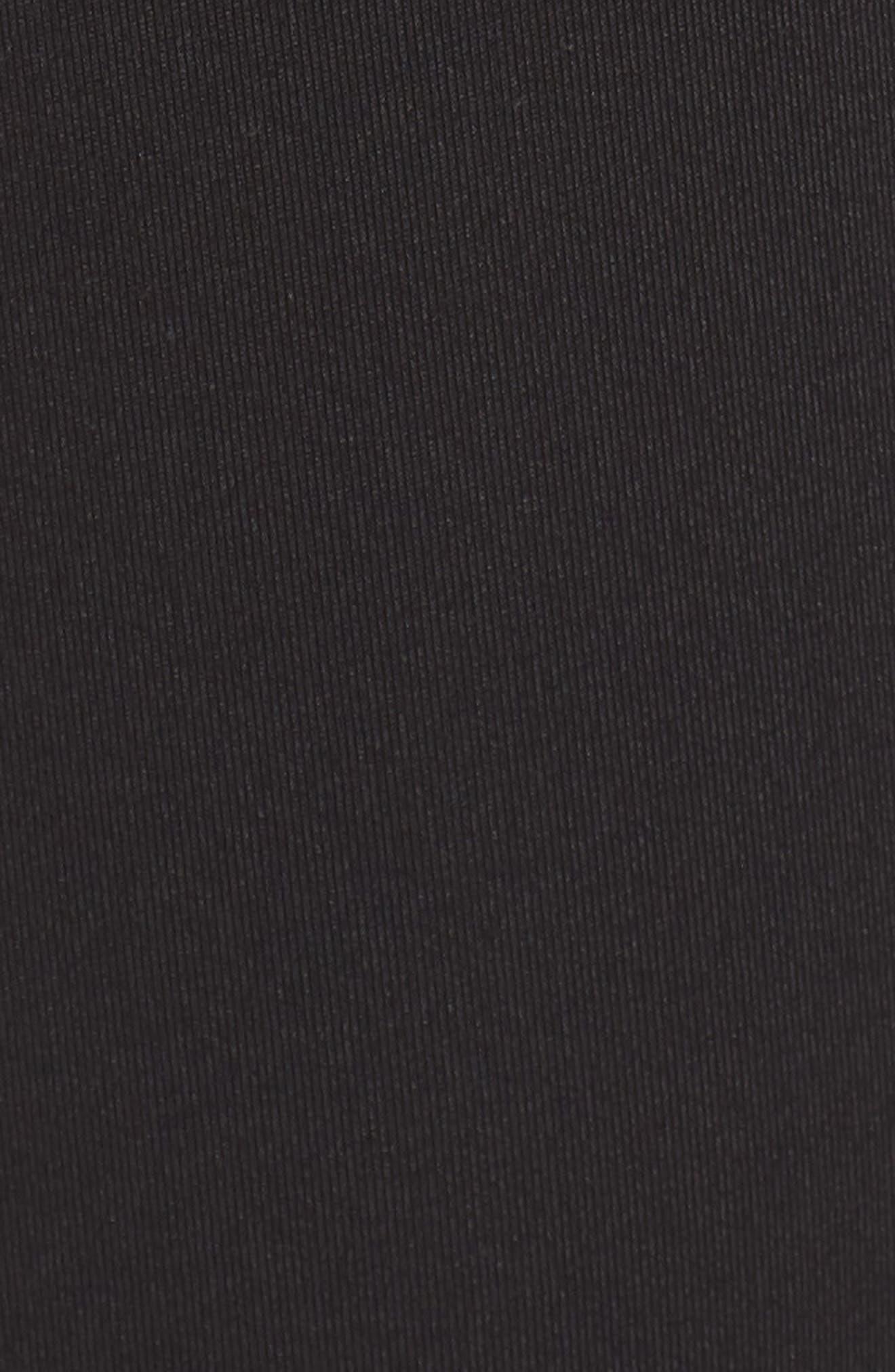 Rose High Waist Capri Leggings,                             Alternate thumbnail 6, color,                             Black/ Off White
