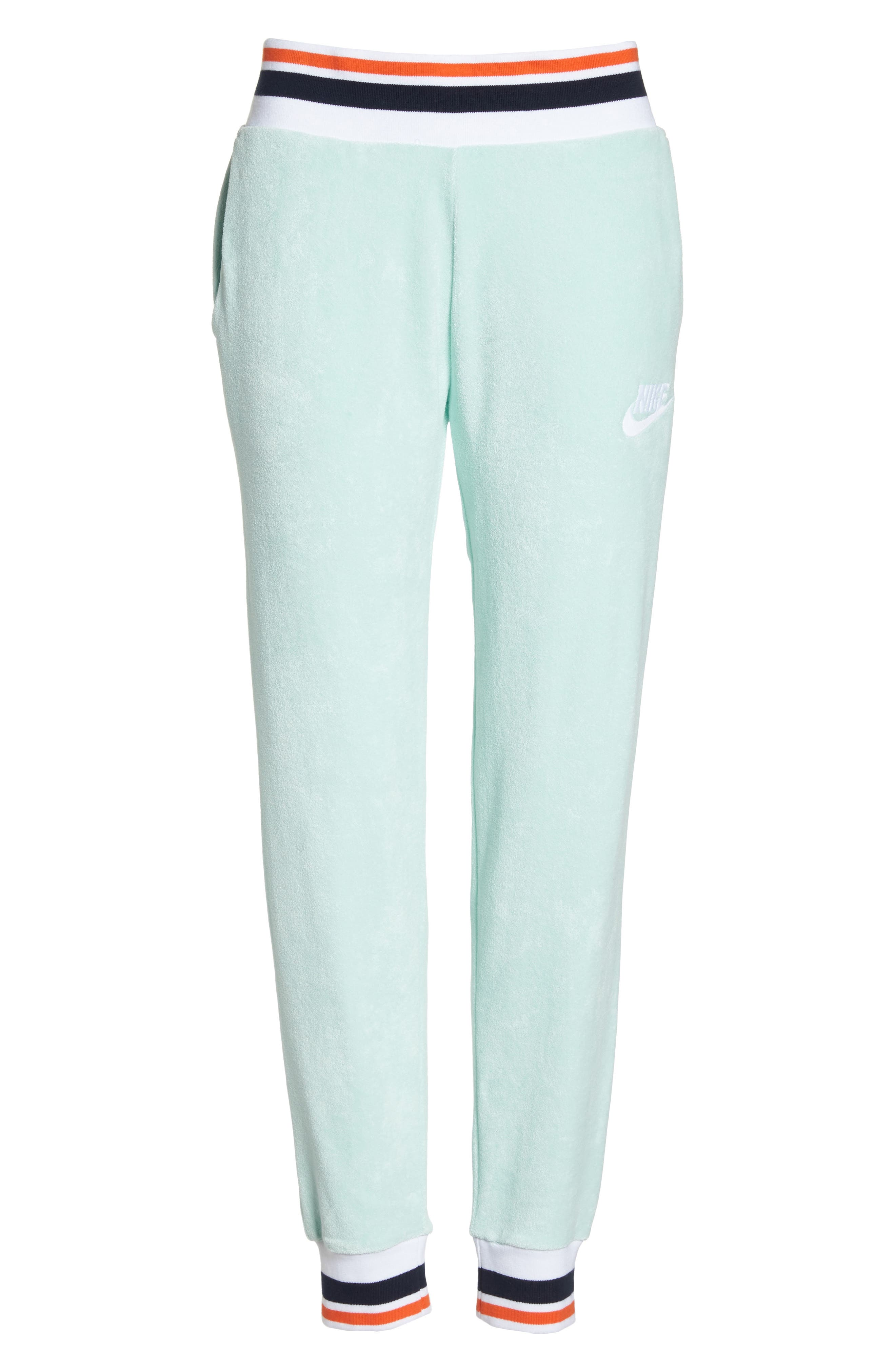 Sportswear French Terry Pants,                             Alternate thumbnail 8, color,                             Igloo/ White
