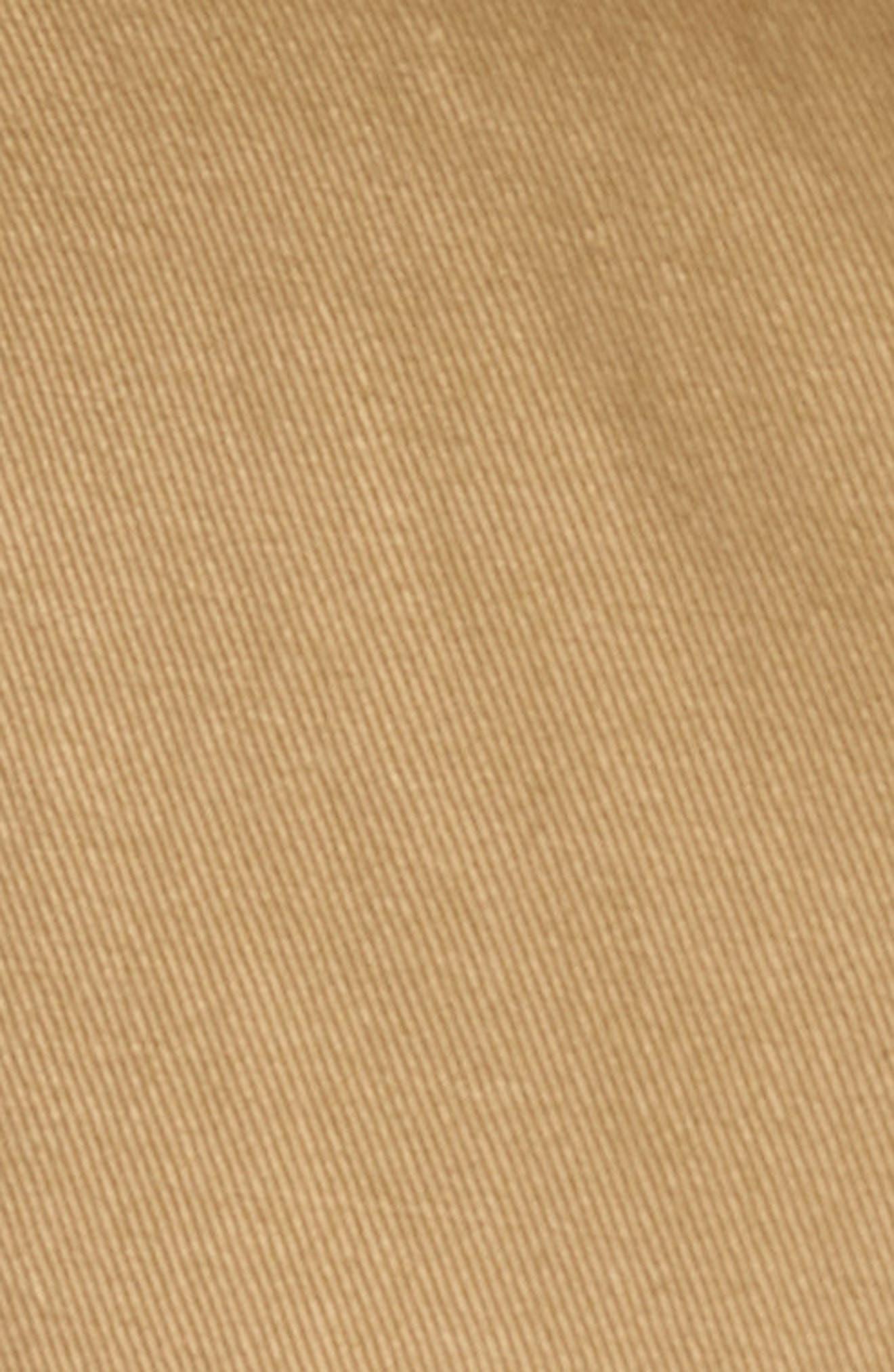 M3 Straight Fit Vintage Twill Flat Front Pants,                             Alternate thumbnail 5, color,                             British Khaki