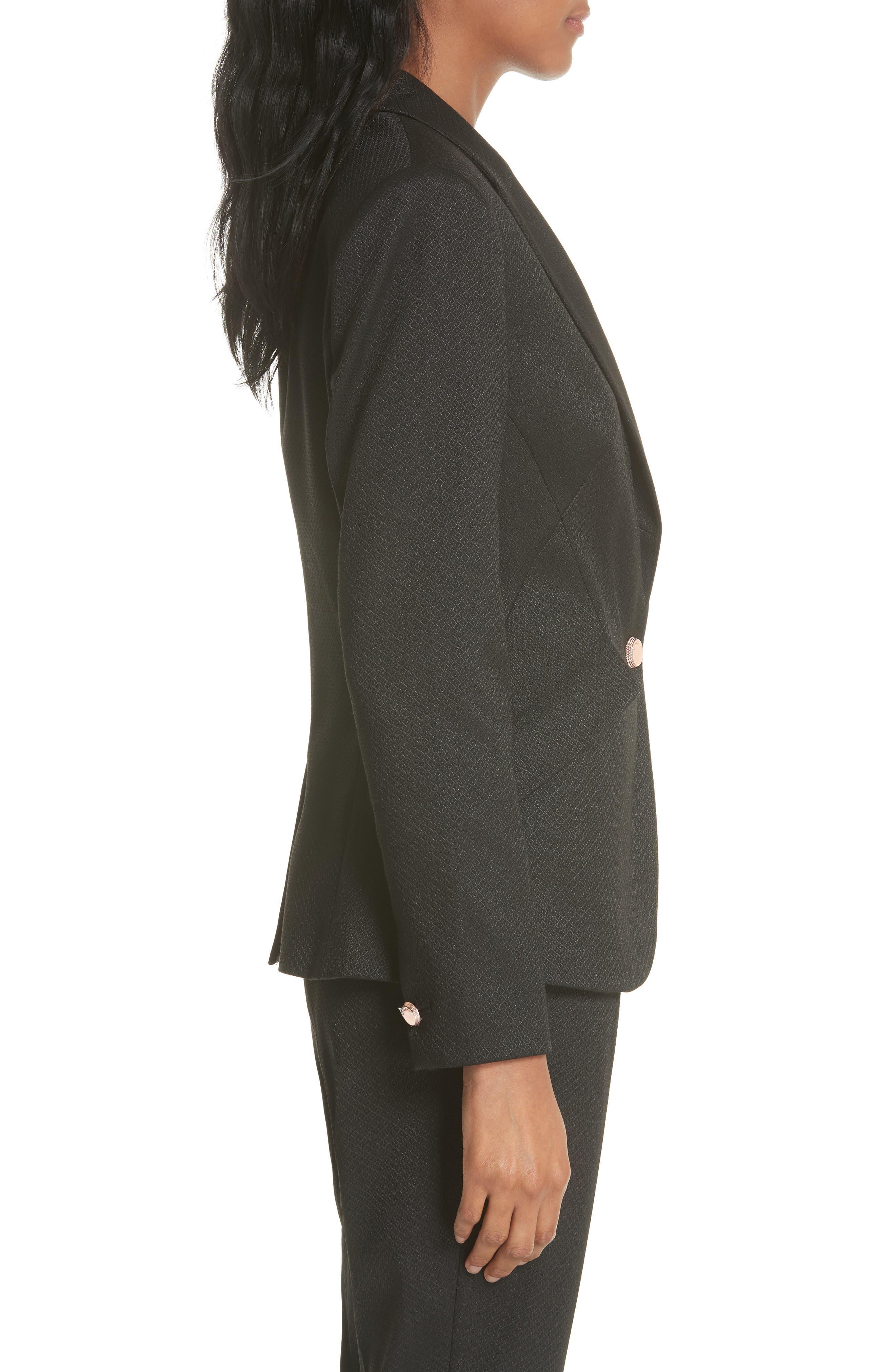 Textured Jacket,                             Alternate thumbnail 3, color,                             Black