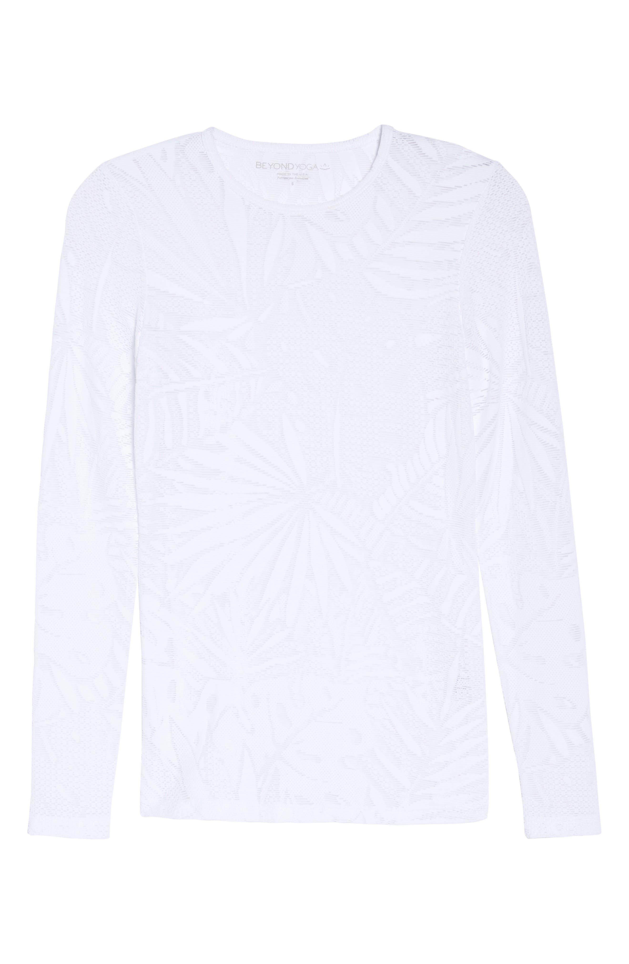 Oasis Mesh Pullover,                             Alternate thumbnail 4, color,                             White