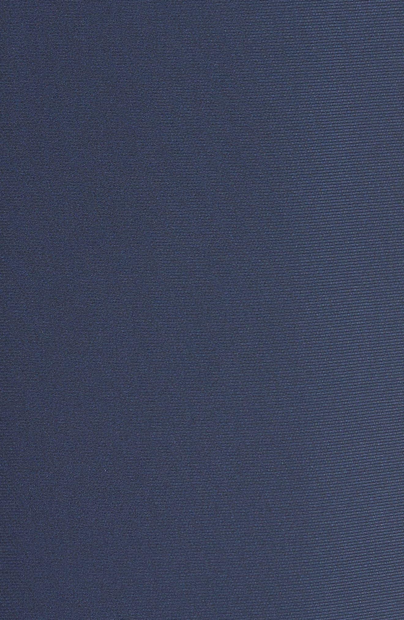 Asymmetrical Belted Dress,                             Alternate thumbnail 6, color,                             Navy