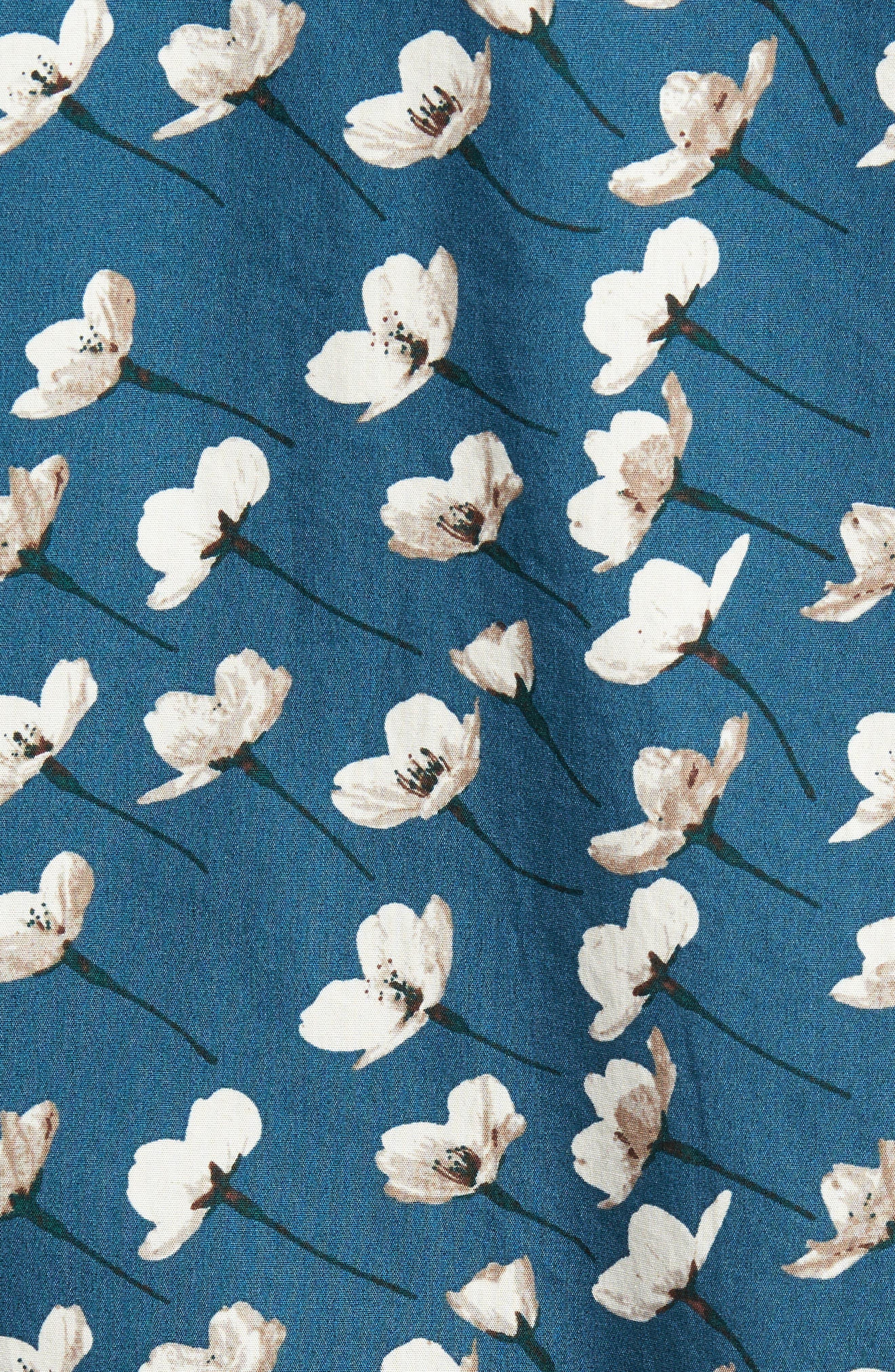 Riviera Slim Fit Cherry Blossom Print Sport Shirt,                             Alternate thumbnail 3, color,                             Cherry Blossoms-Stargazer