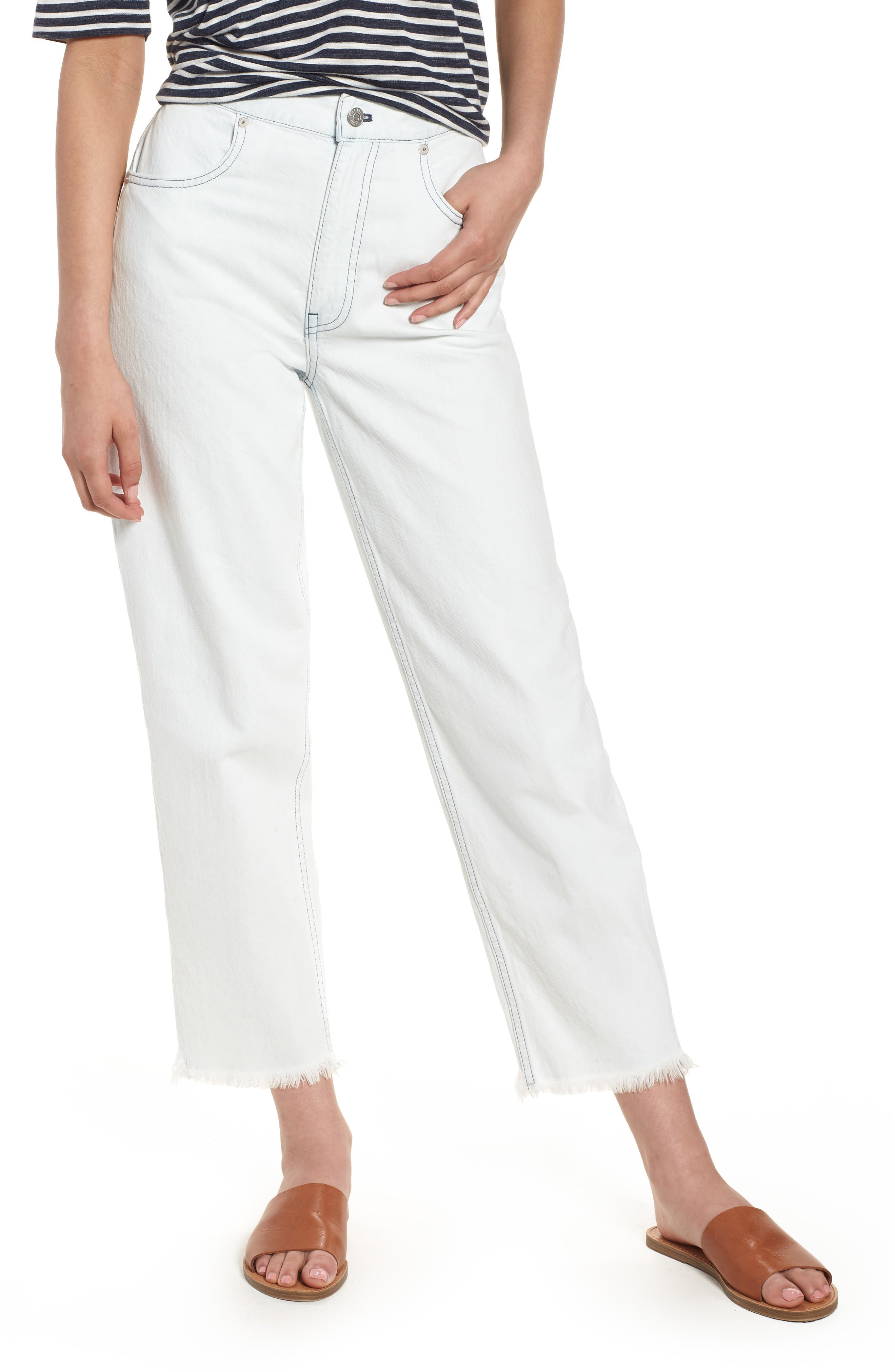 Madewell Tapered Wide Leg Jeans (Cadiz)