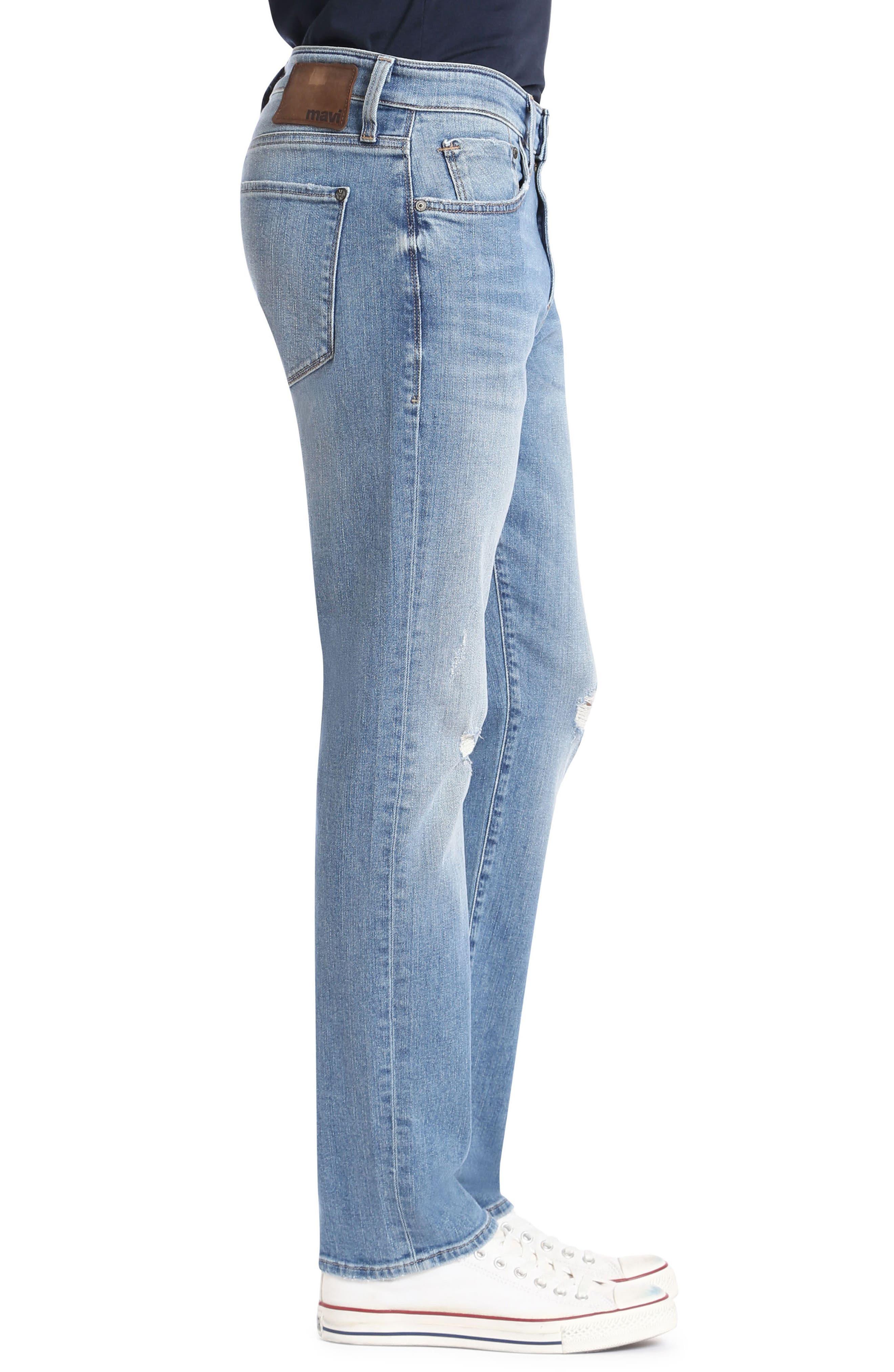 Marcus Slim Straight Leg Jeans,                             Alternate thumbnail 3, color,                             Light Used Authentic Vintage