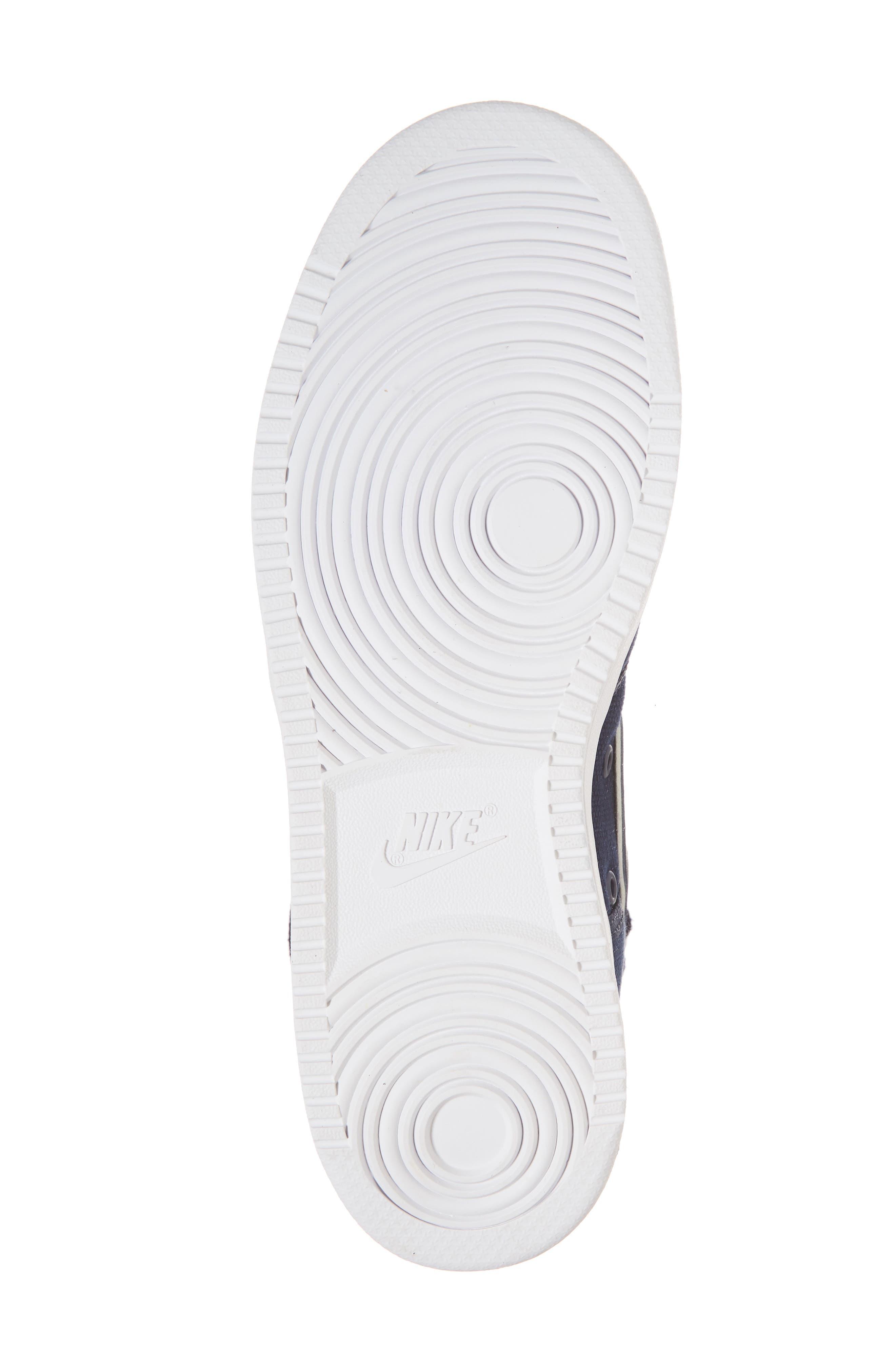 Vandal High Supreme High Top Sneaker,                             Alternate thumbnail 6, color,                             Obsidian/ White