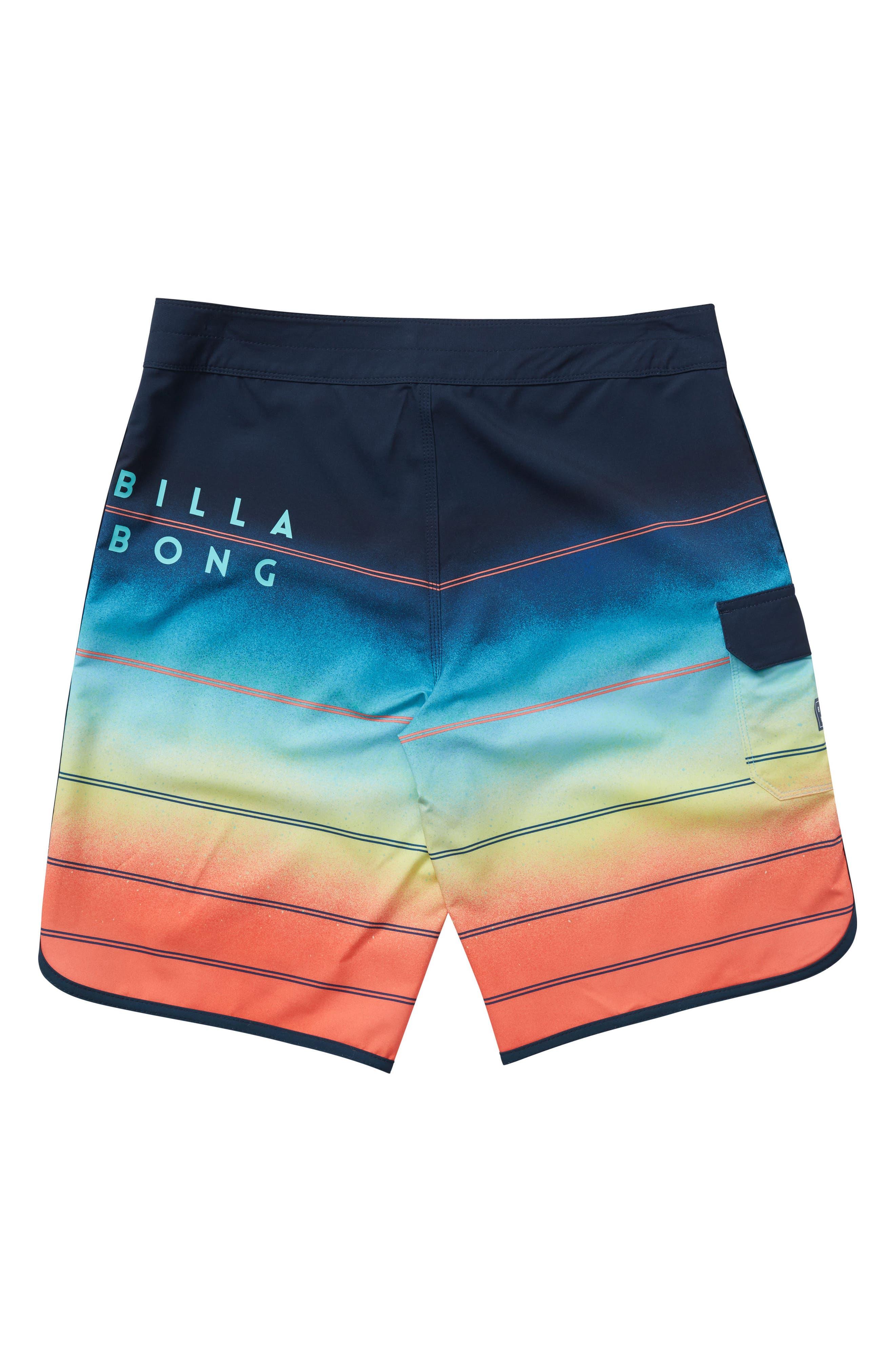 73 X Stripe Board Shorts,                             Alternate thumbnail 2, color,                             Orange