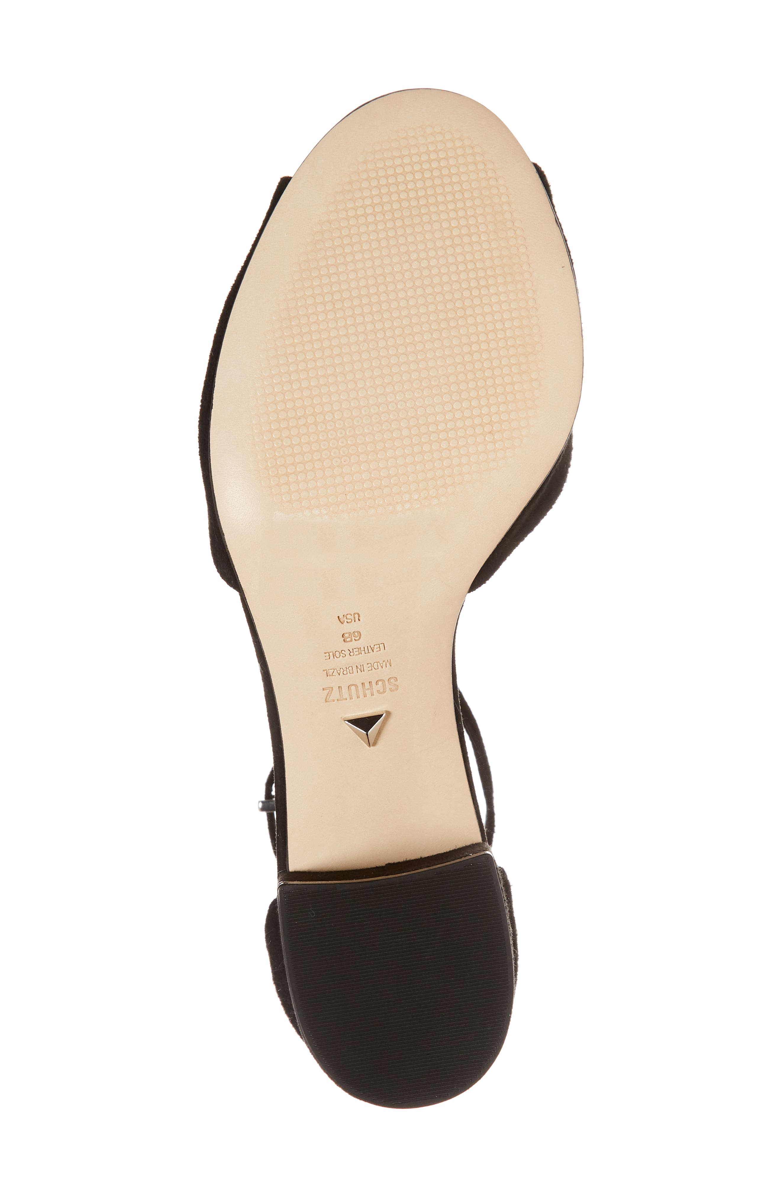 Roama Block Heel Sandal,                             Alternate thumbnail 6, color,                             Black Suede