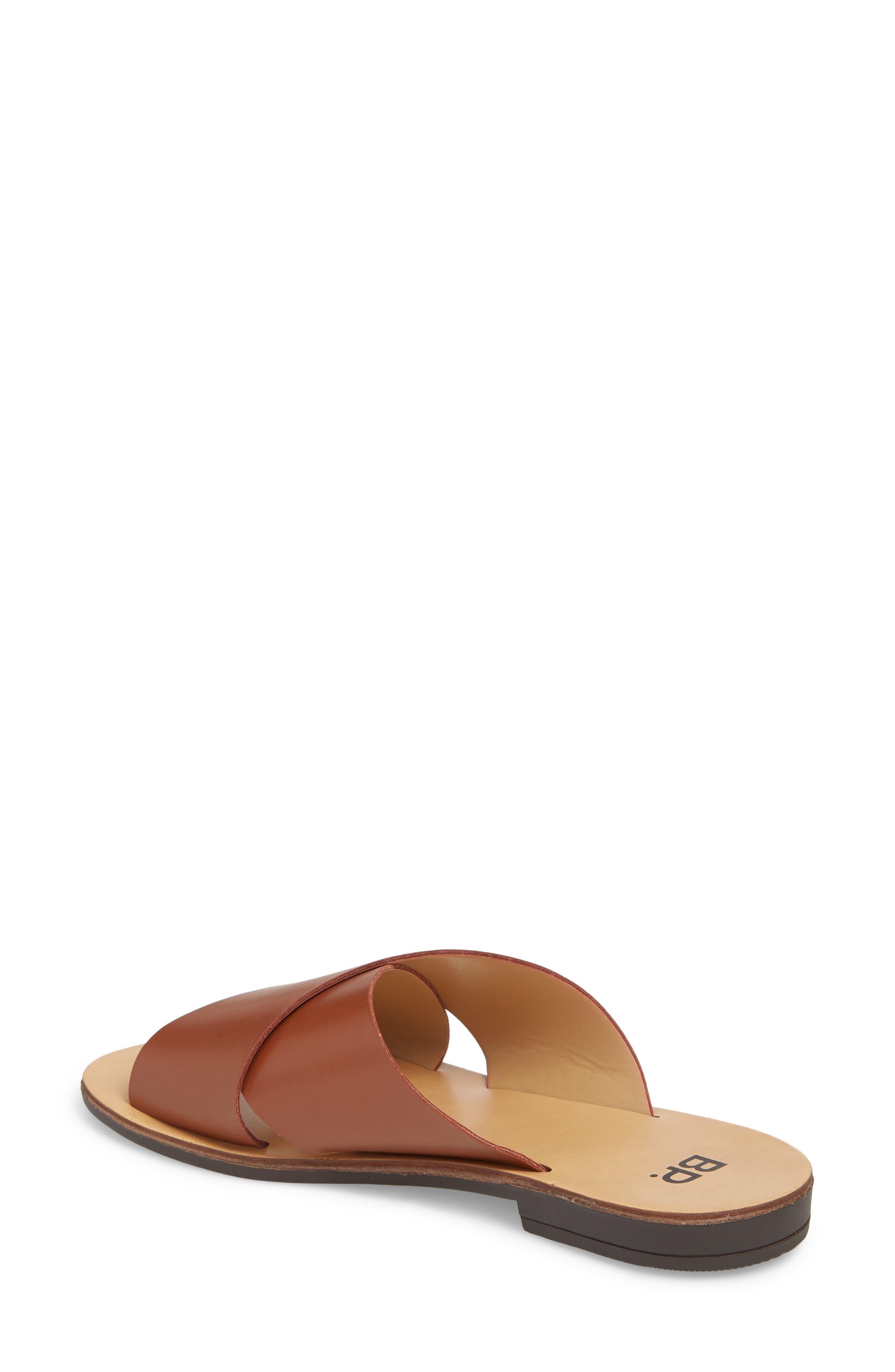 Twist Cross Strap Sandal,                             Alternate thumbnail 2, color,                             Cognac Faux Leather
