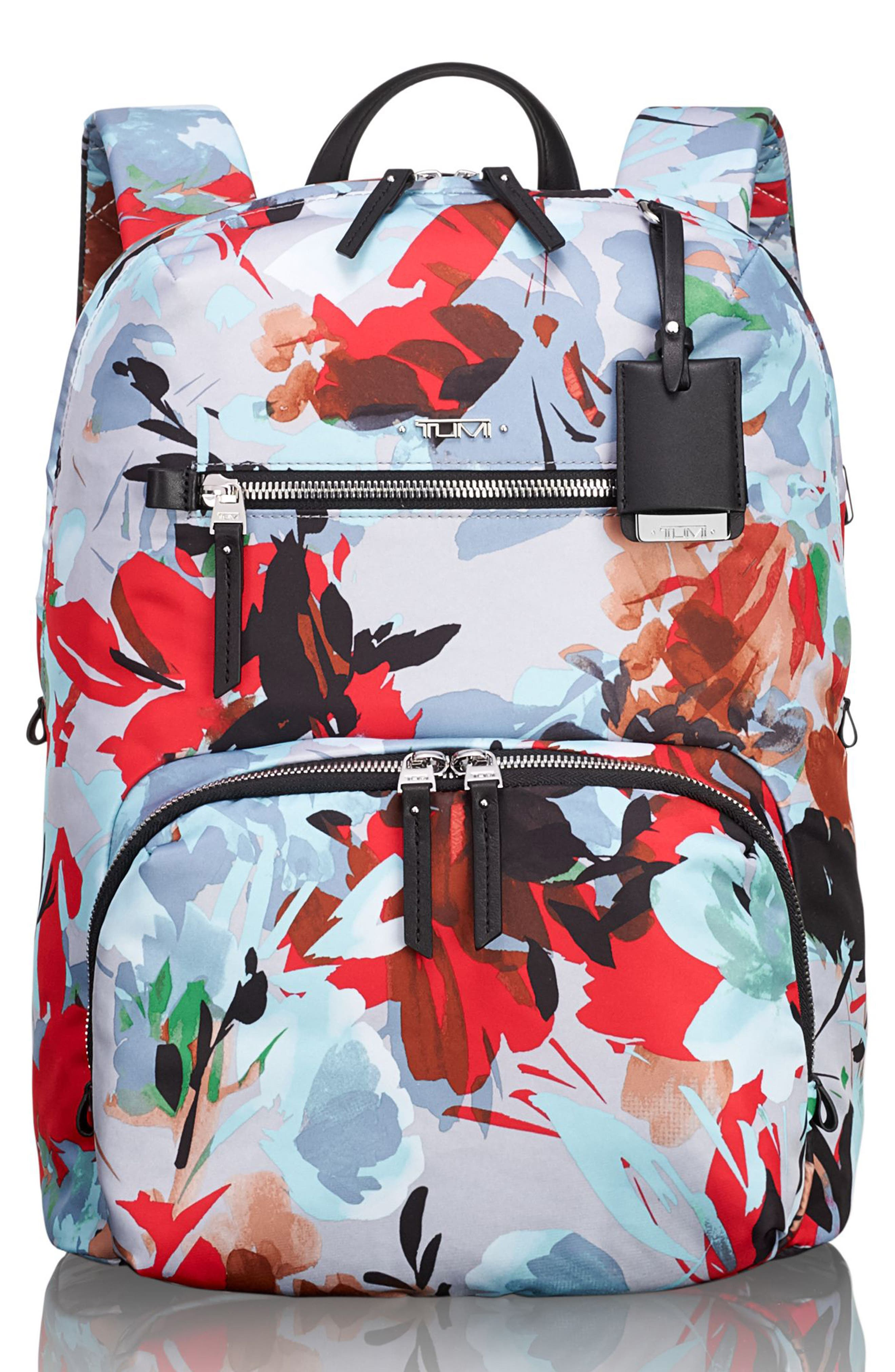Voyageur Halle Nylon Backpack,                         Main,                         color, Pacific Floral