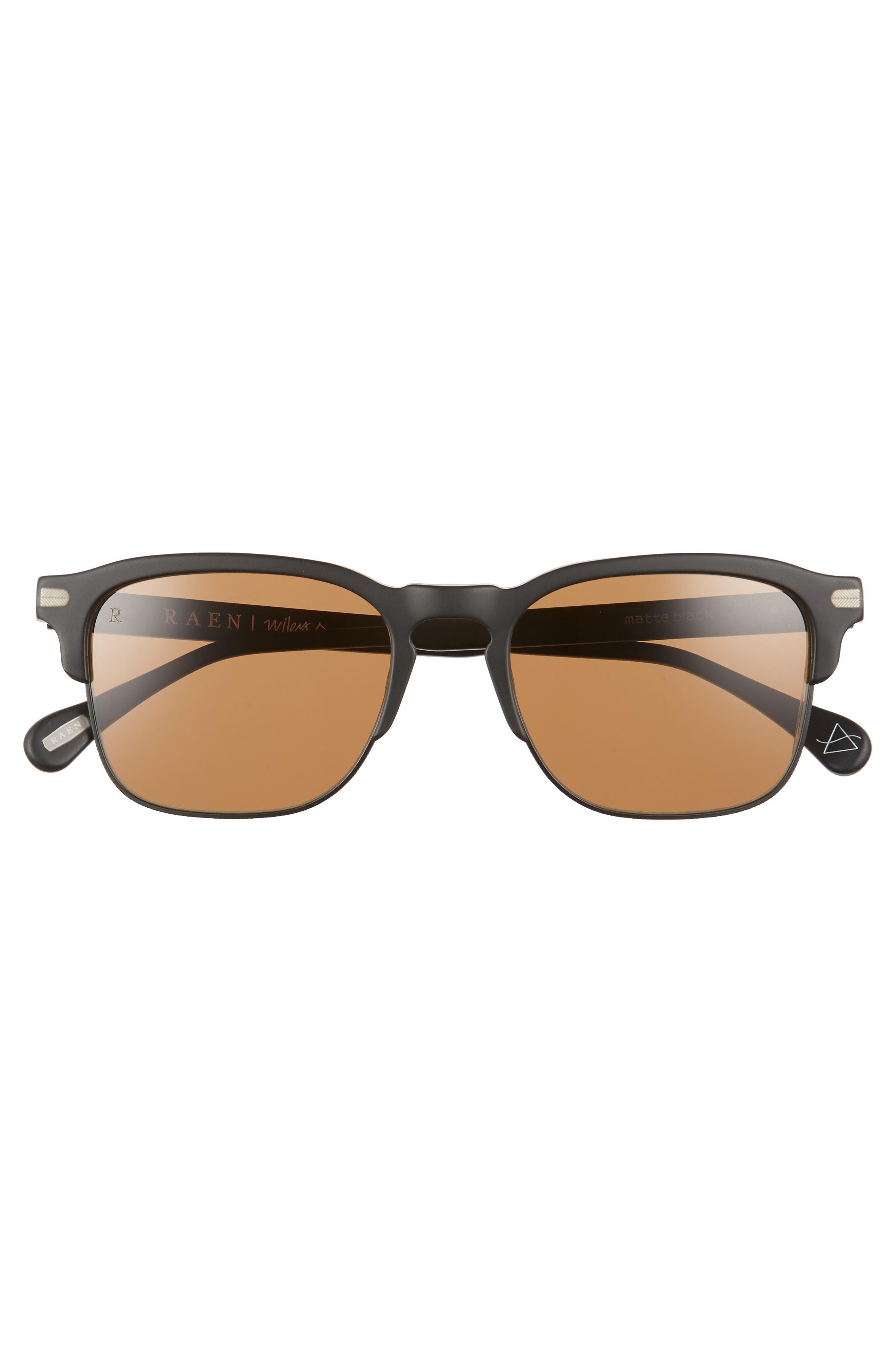 Wiley A 53mm Sunglasses,                             Alternate thumbnail 2, color,                             Matte Black
