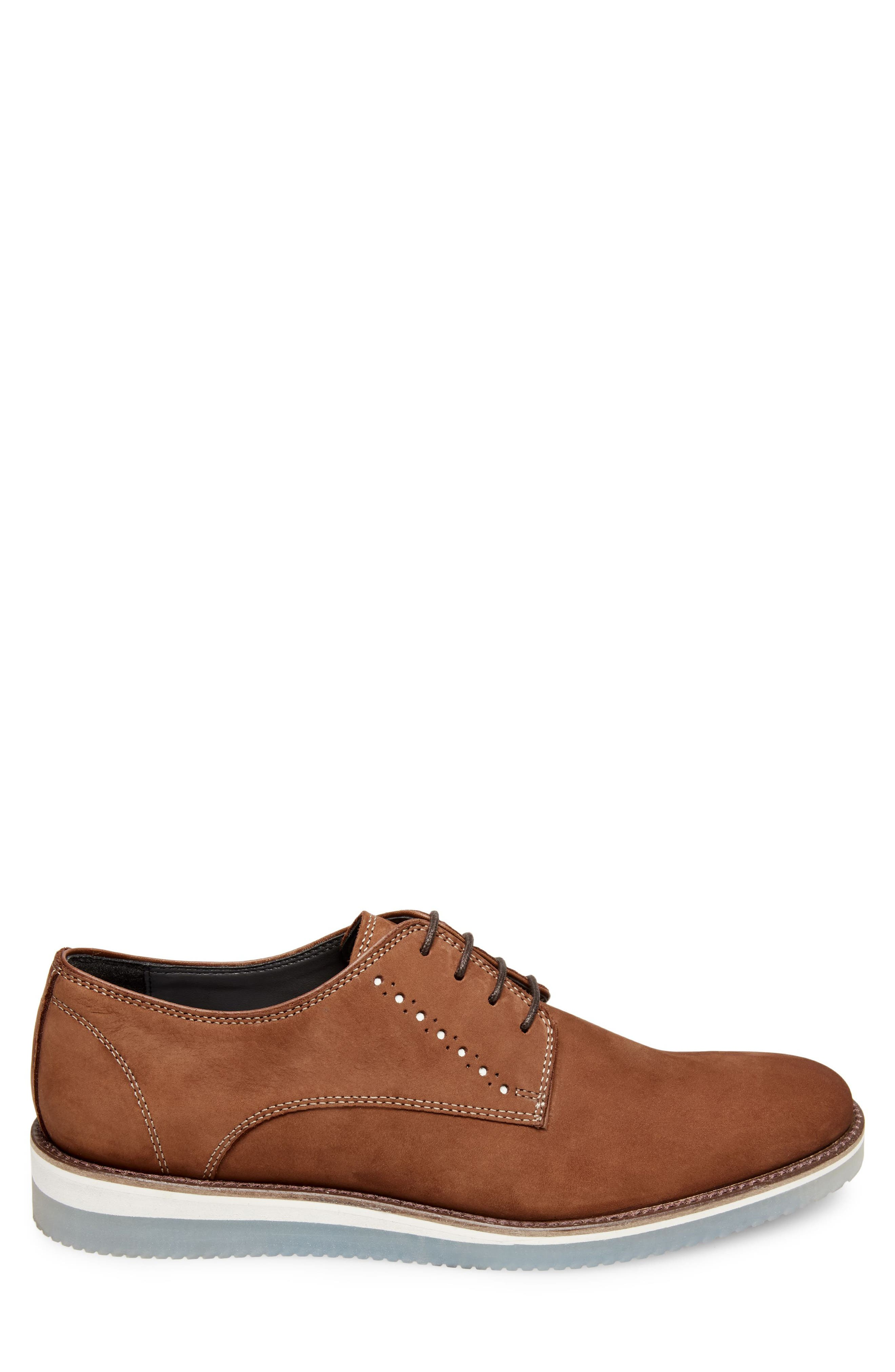 Inquest Plain Toe Derby,                             Alternate thumbnail 3, color,                             Cognac Nubuck