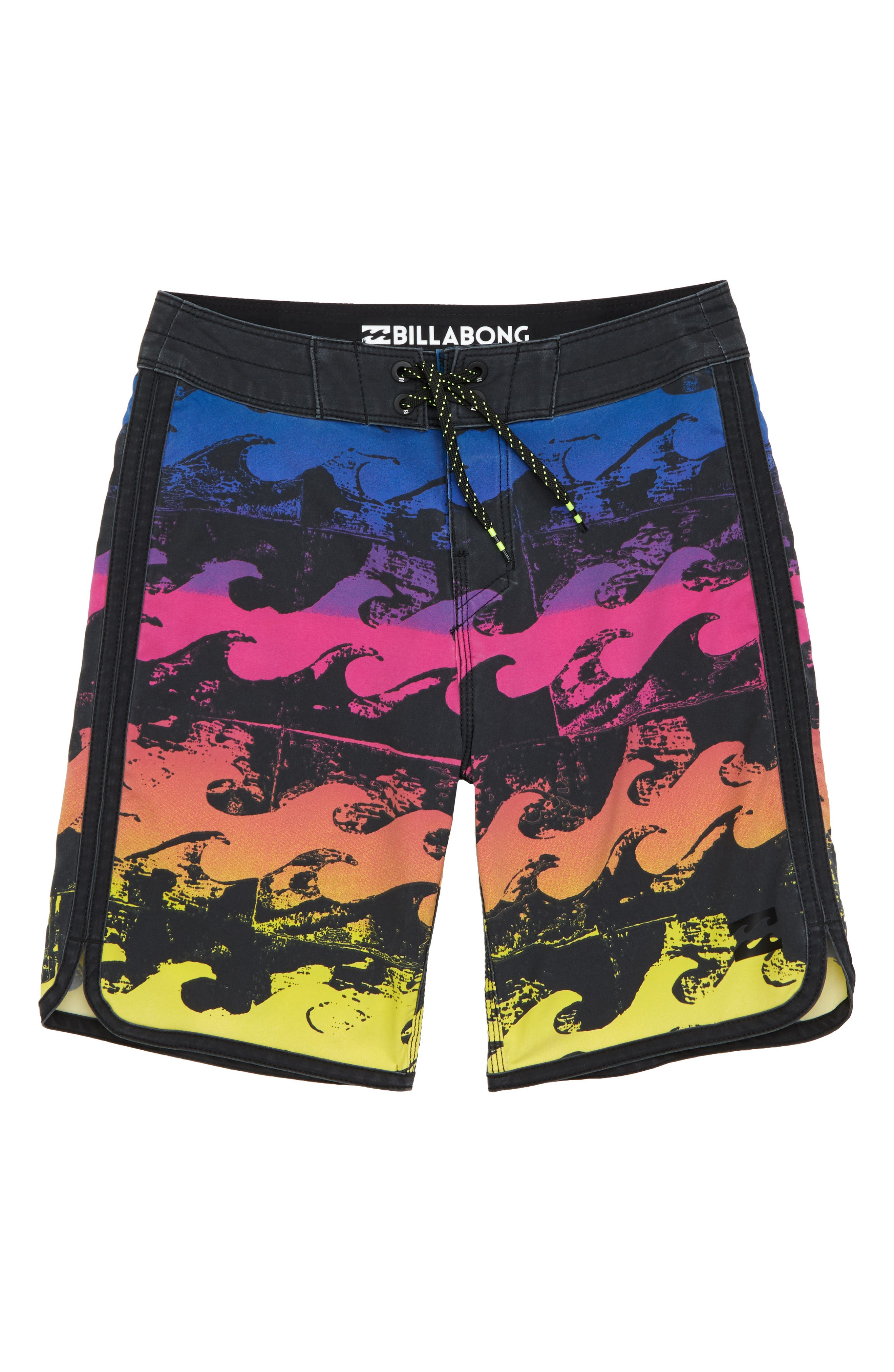73 X Line Up Board Shorts,                         Main,                         color, Neon