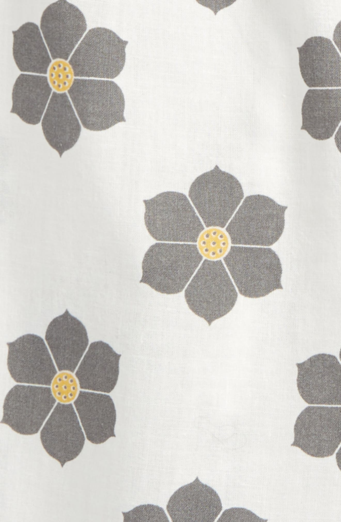 Floral Top,                             Alternate thumbnail 2, color,                             White