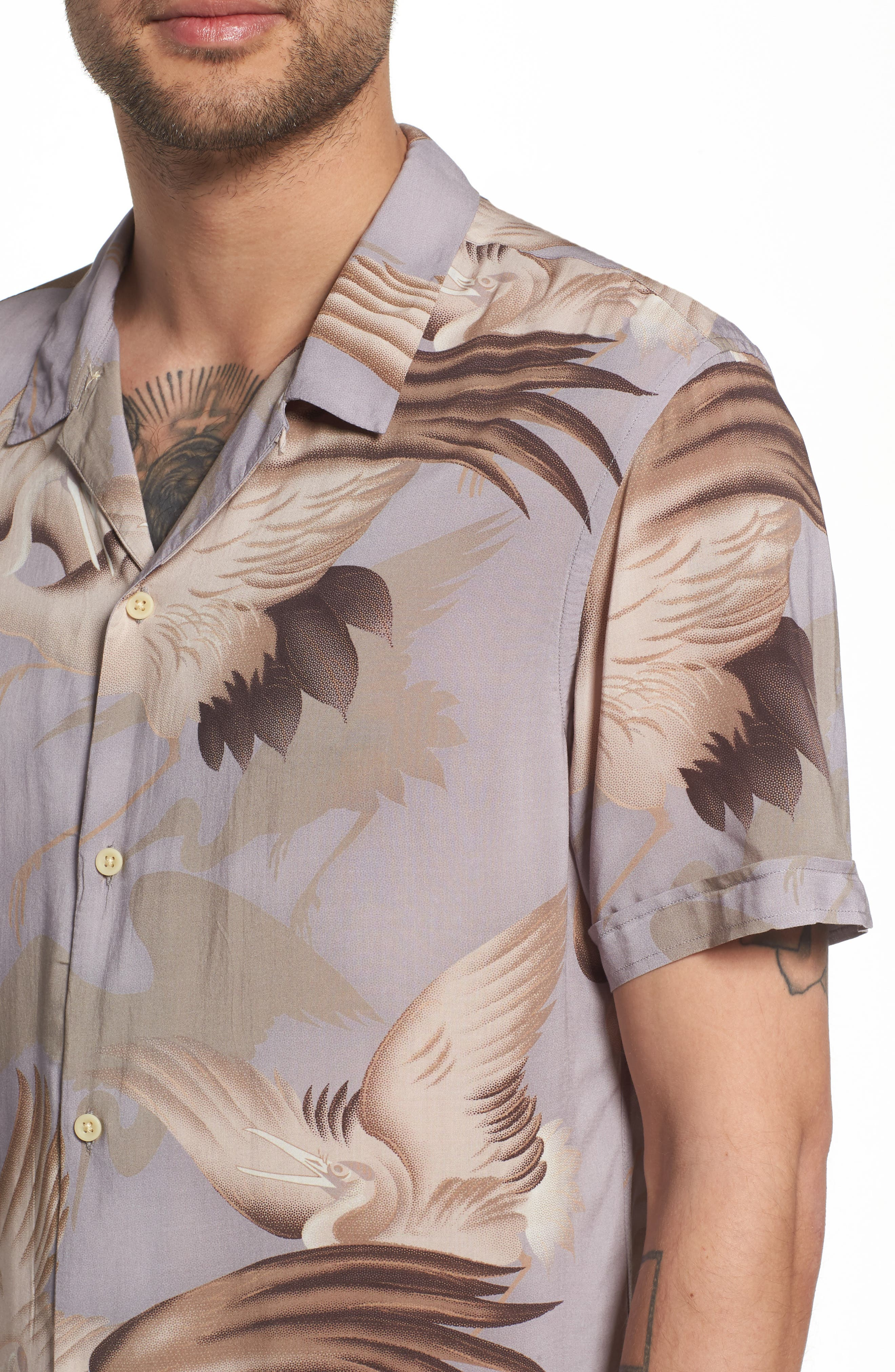 Wader Regular Fit Short Sleeve Sport Shirt,                             Alternate thumbnail 2, color,                             Chrome Grey