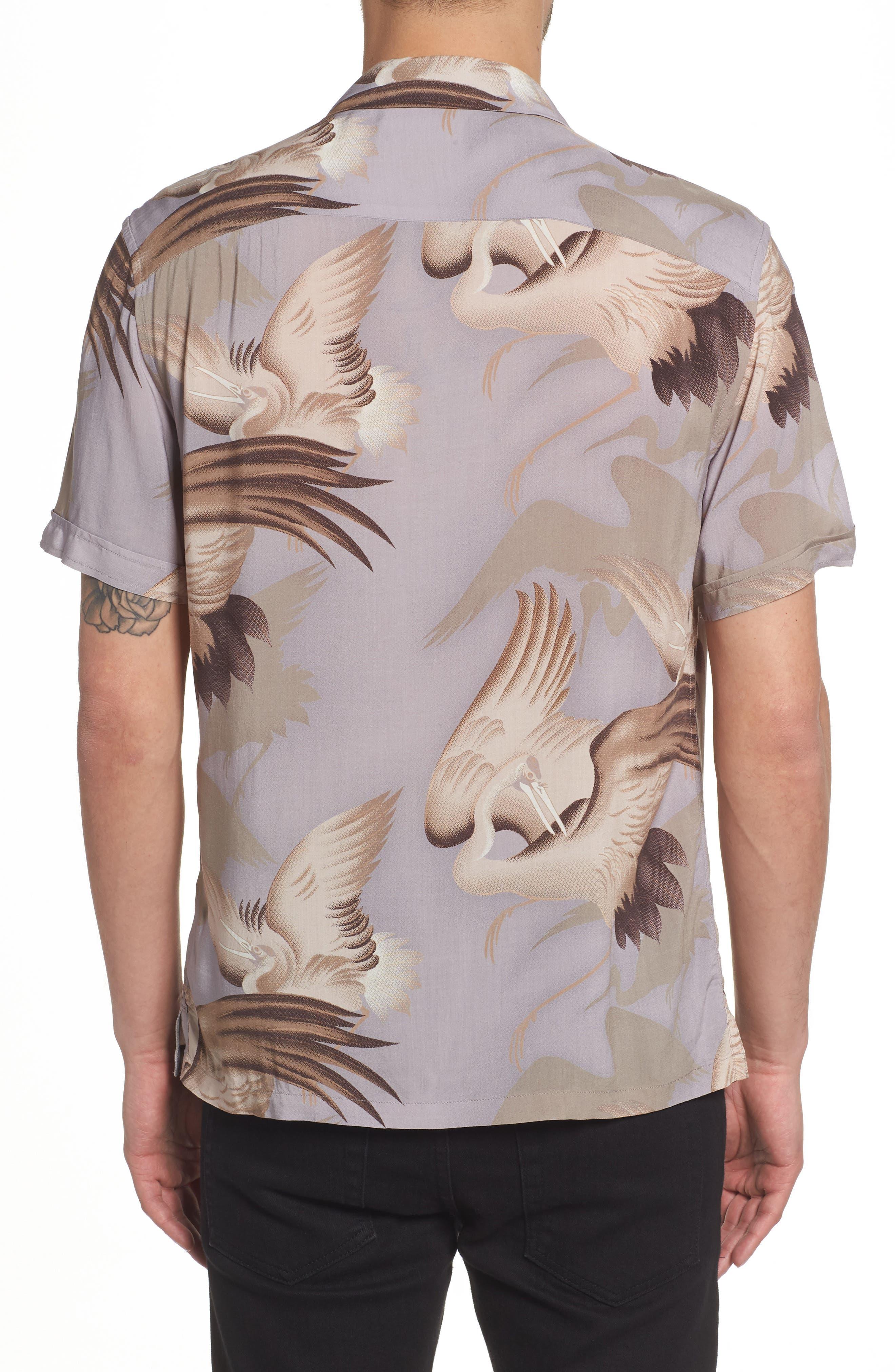 Wader Regular Fit Short Sleeve Sport Shirt,                             Alternate thumbnail 3, color,                             Chrome Grey