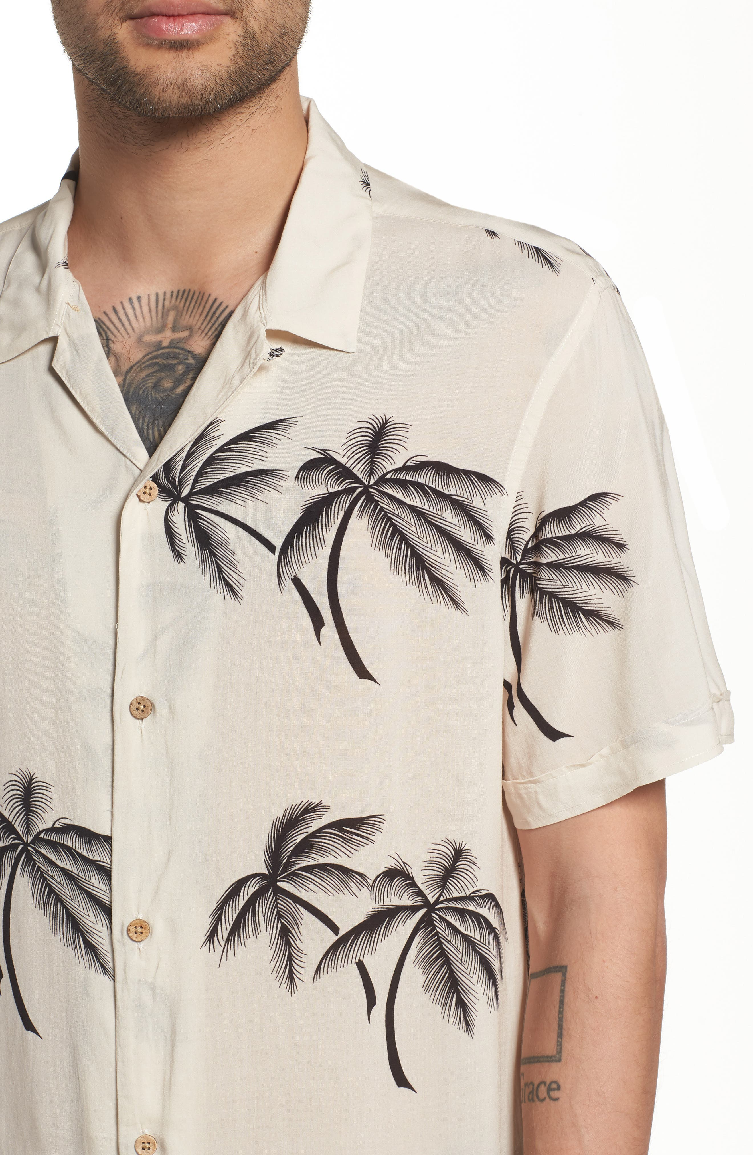 Offshore Regular Fit Short Sleeve Sport Shirt,                             Alternate thumbnail 4, color,                             Ecru