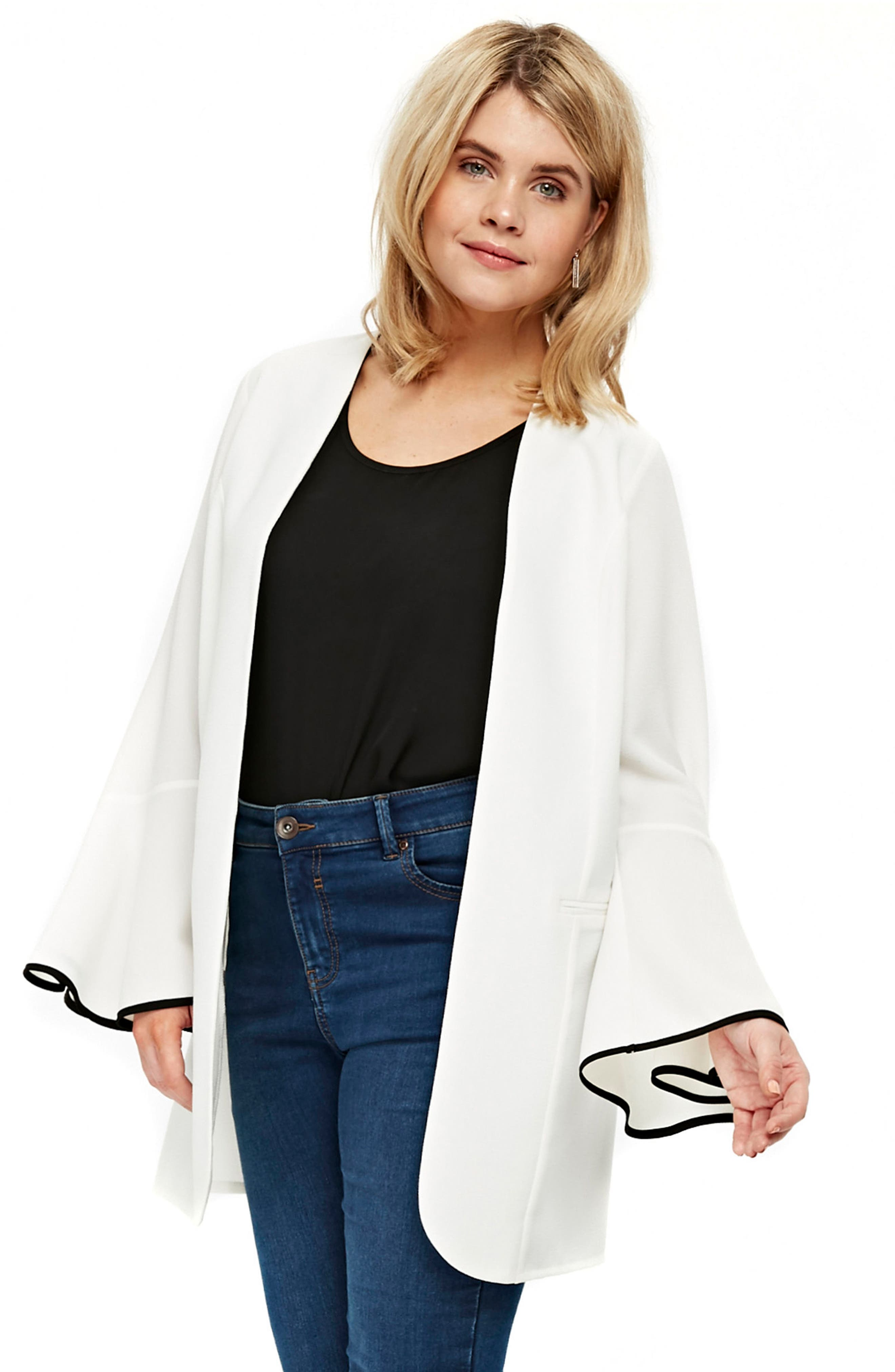 Evans Fluted Bell Sleeve Jacket (Plus Size)