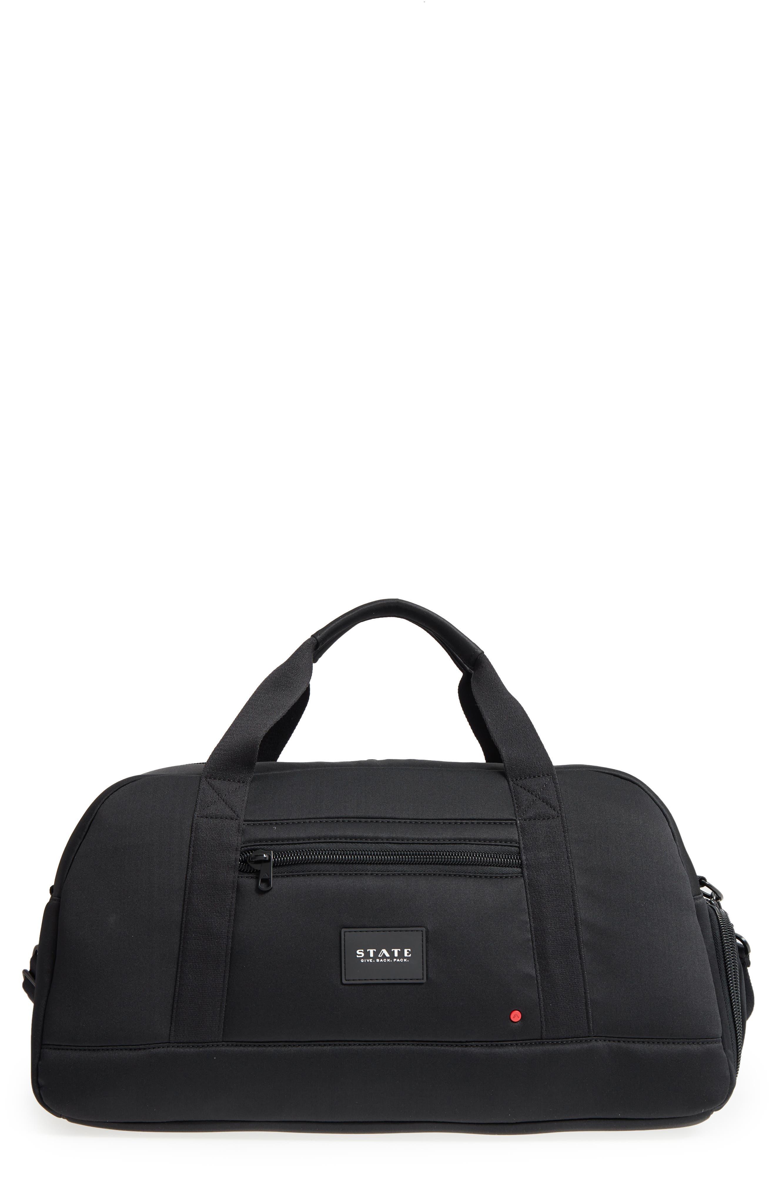 Franklin Neoprene Duffel Bag,                         Main,                         color, Black