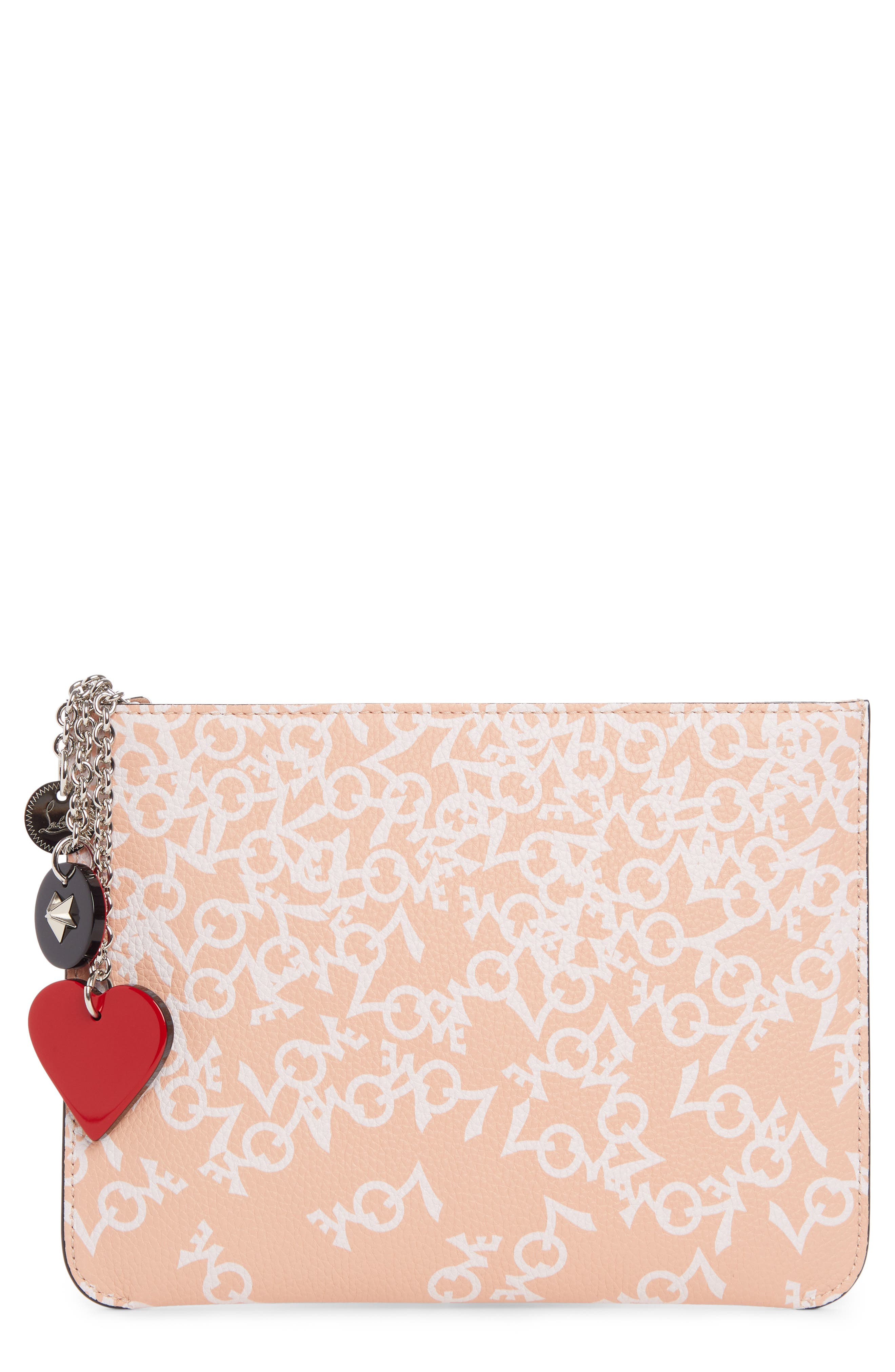Christian Louboutin Loubicute Crazy Love Leather Pouch