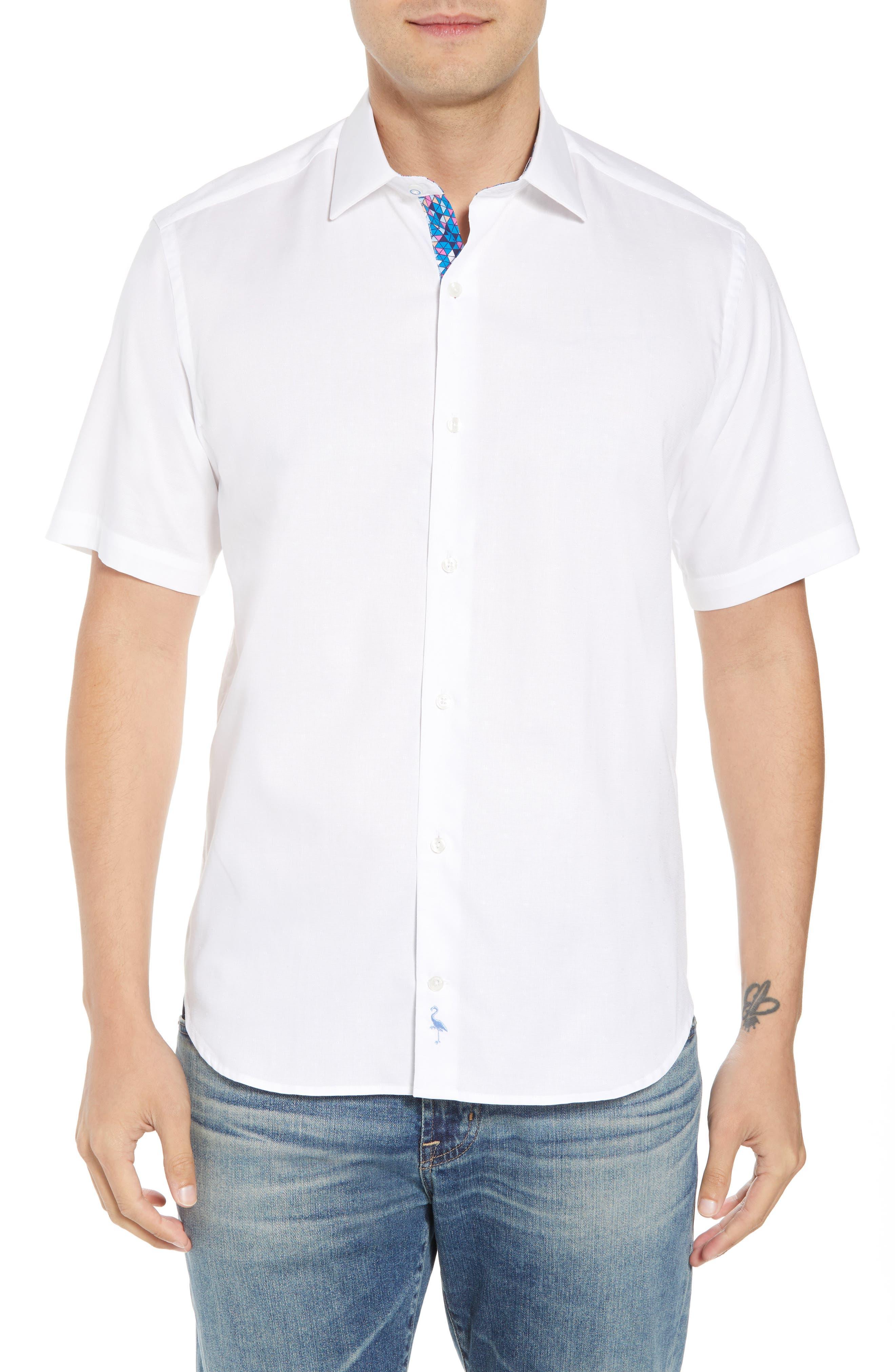 Abbott Regular Fit Sport Shirt,                             Main thumbnail 1, color,                             White