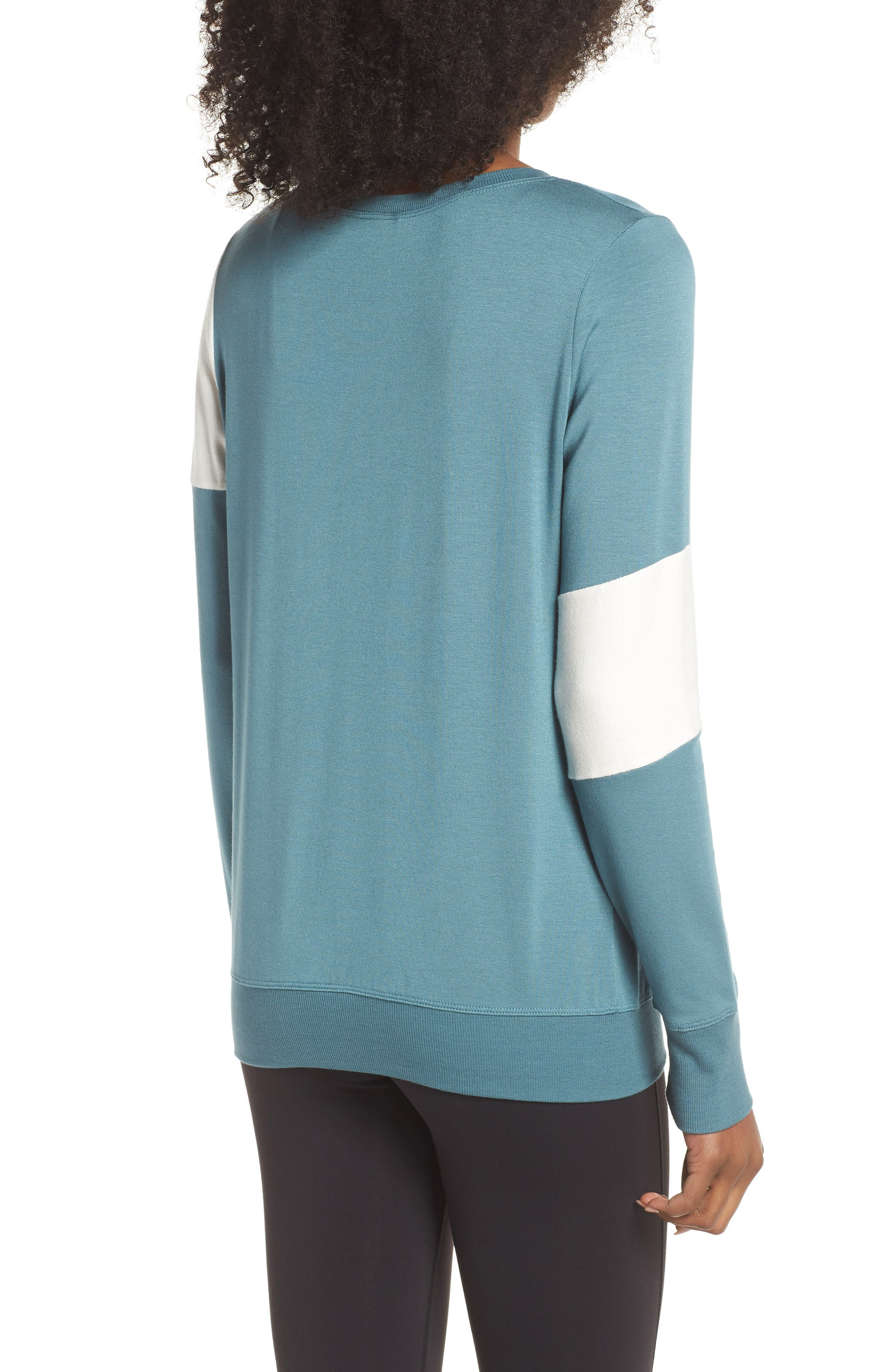 Ramp Sweatshirt,                             Alternate thumbnail 2, color,                             Blue Surf/ Off White