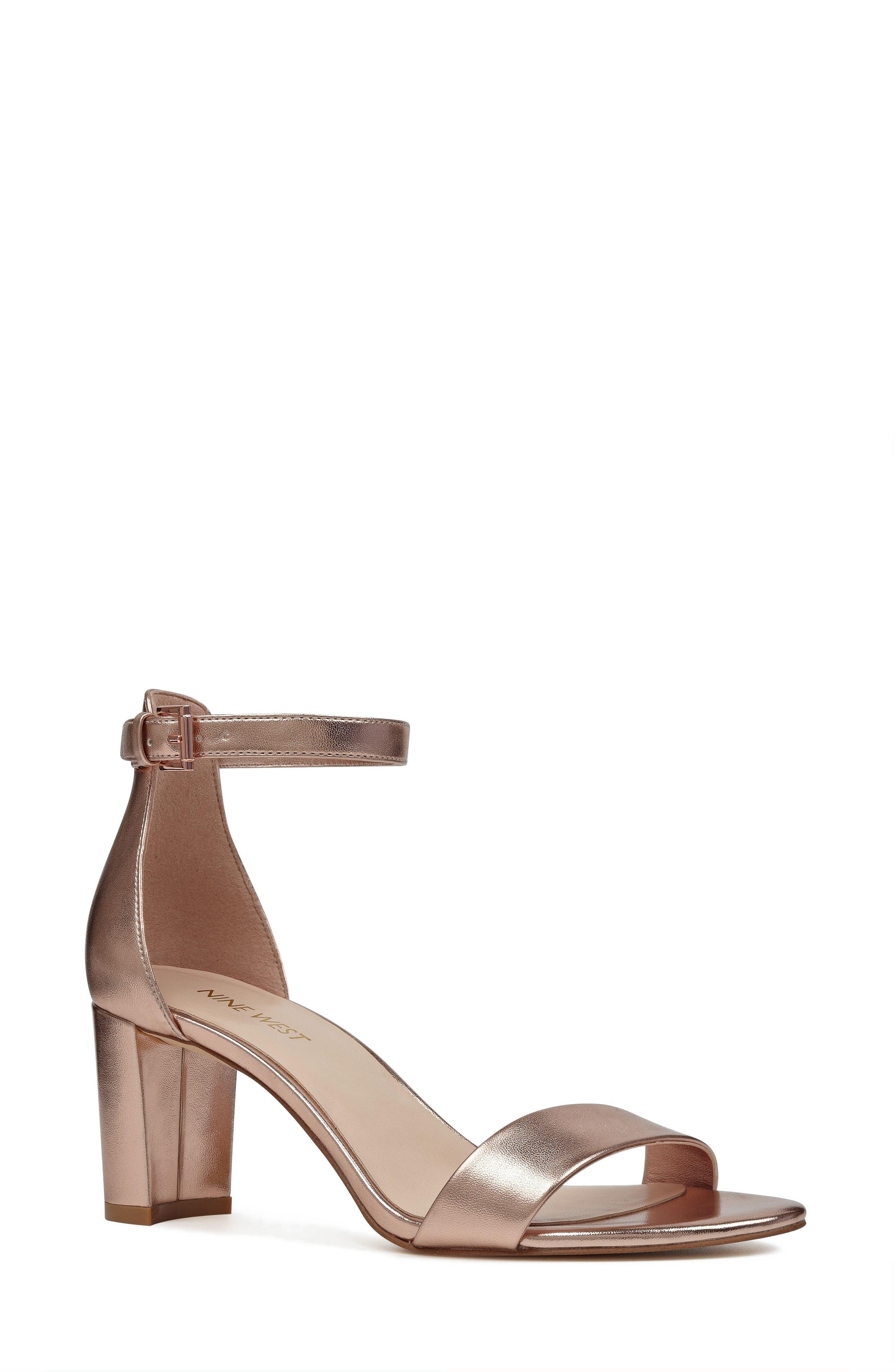 Pruce Ankle Strap Sandal,                         Main,                         color, Matte Rose Gold