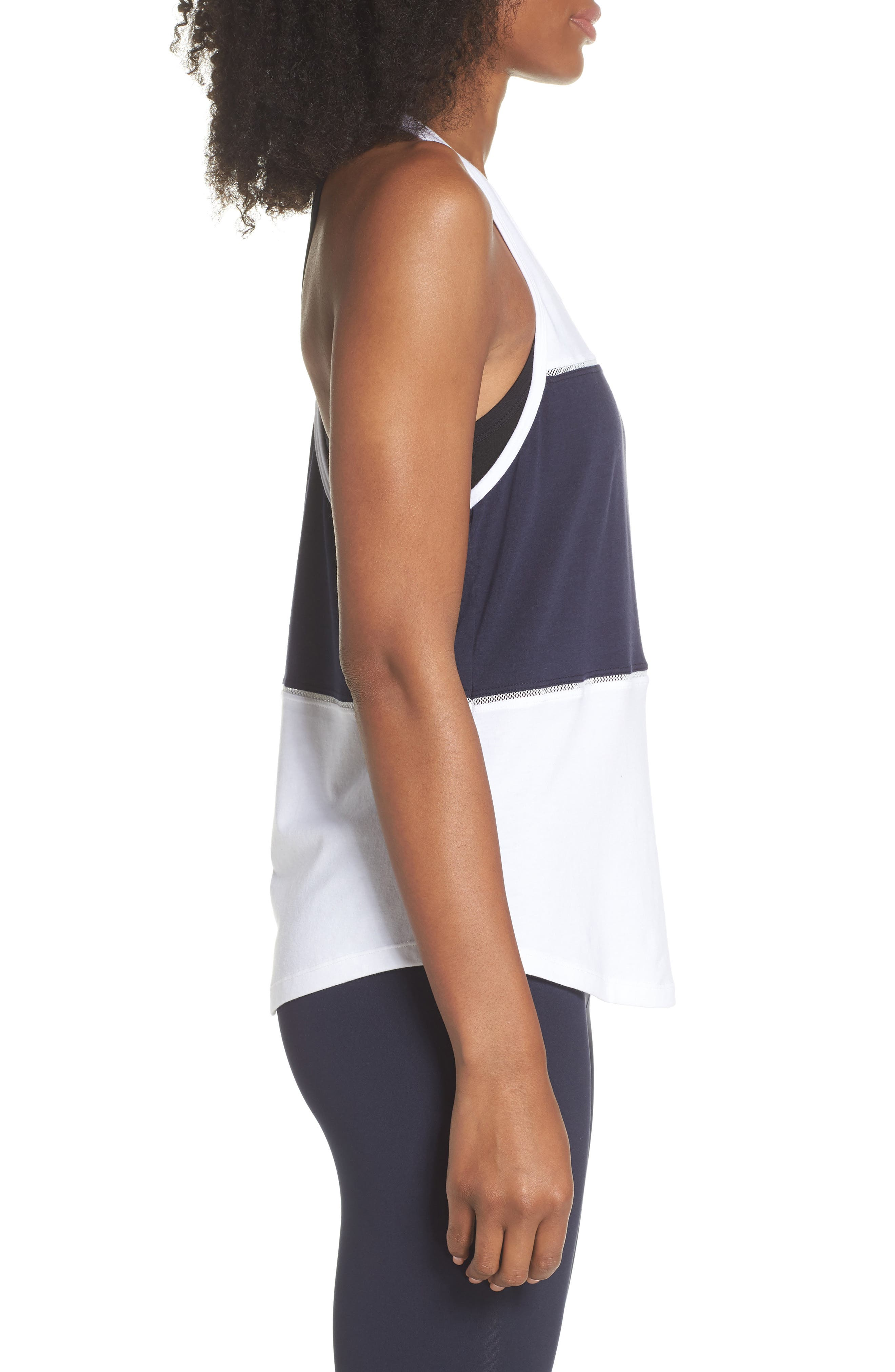 colorblock tank,                             Alternate thumbnail 3, color,                             Rich Navy Multi