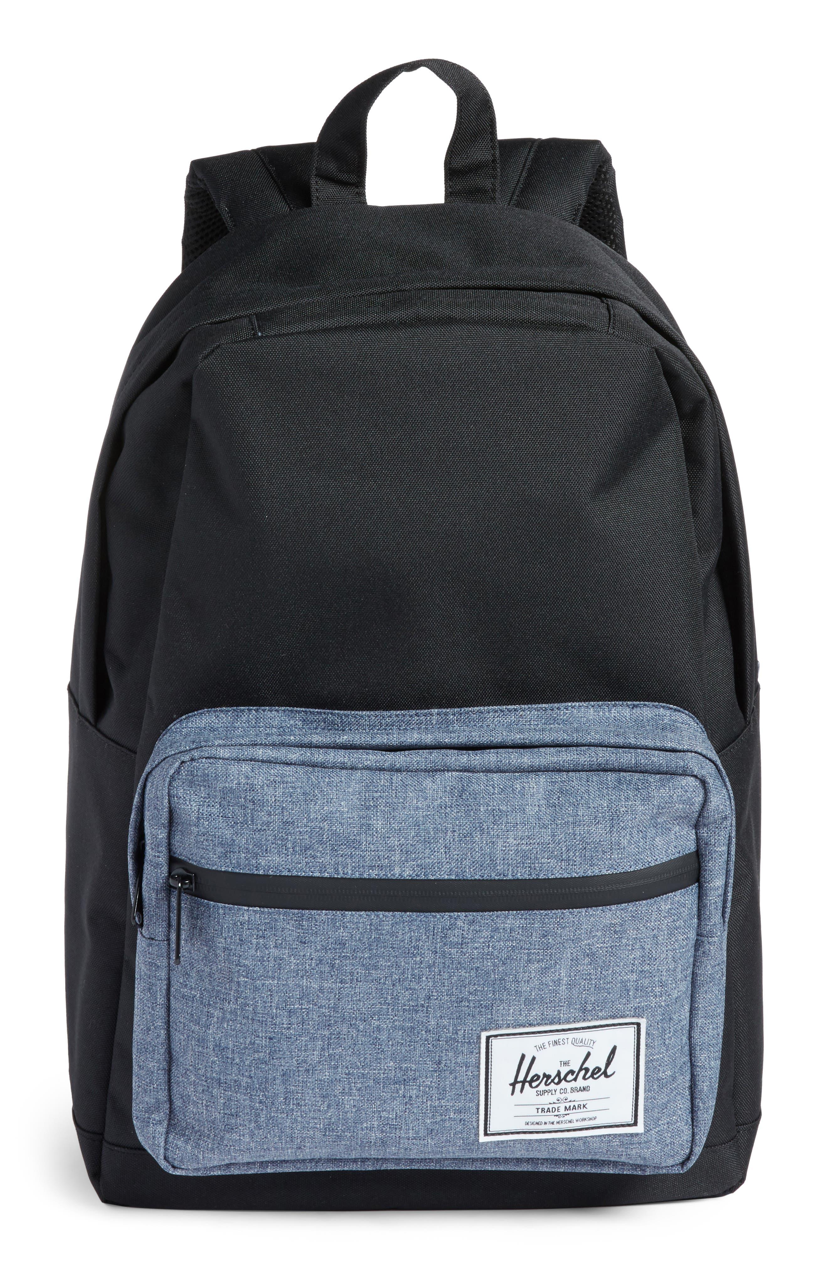 Pop Quiz - Chambray Backpack,                             Main thumbnail 1, color,                             Black/ Dark Chambray