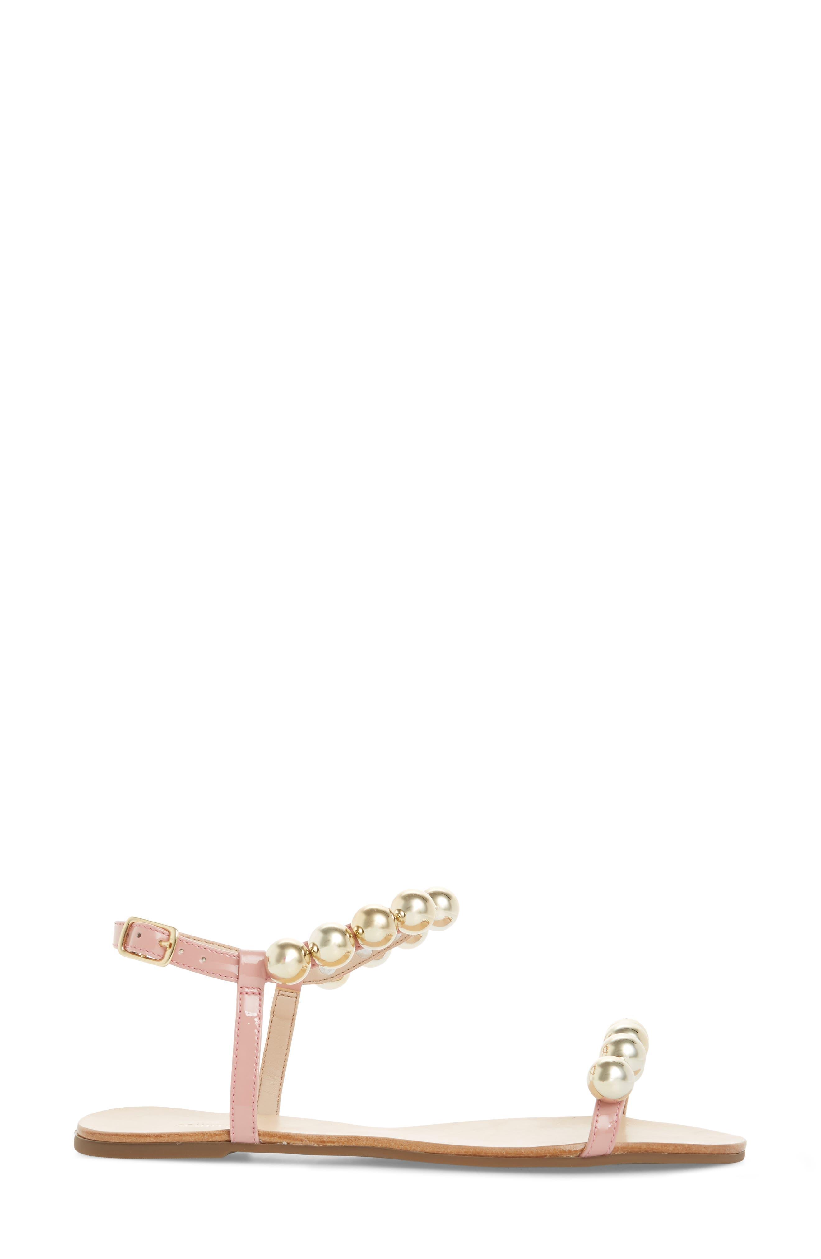 Hebe Ankle Strap Sandal,                             Alternate thumbnail 3, color,                             Poppy Rose Leather