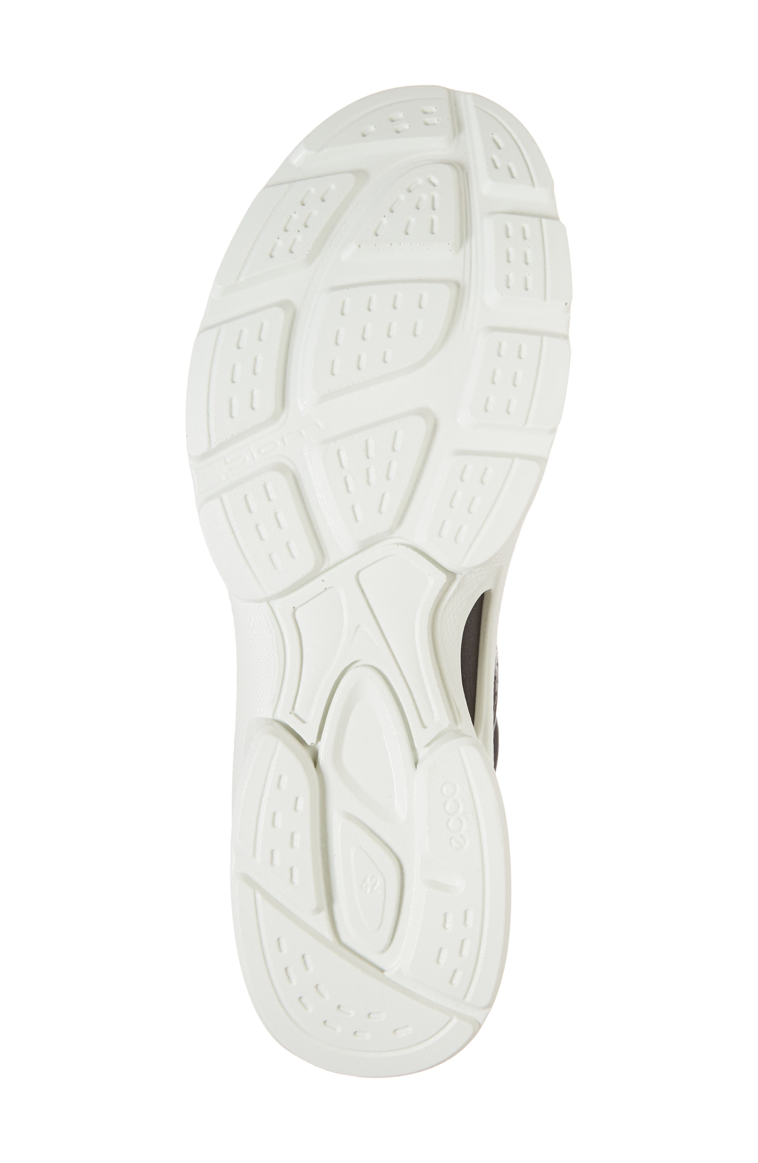 BIOM Street Moc Toe Sneaker,                             Alternate thumbnail 6, color,                             Black Leather