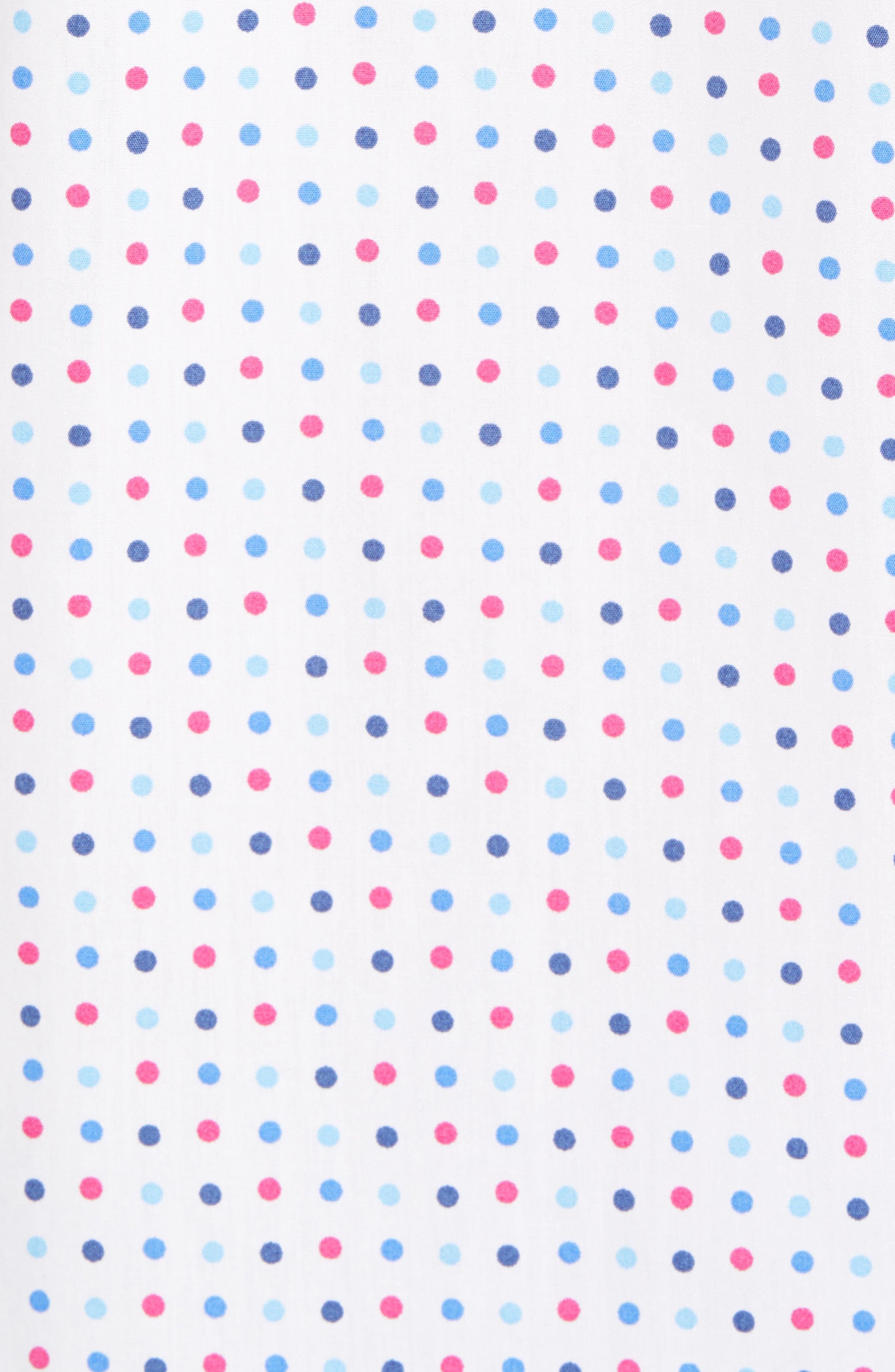 Banning Regular Fit Dot Sport Shirt,                             Alternate thumbnail 5, color,                             White
