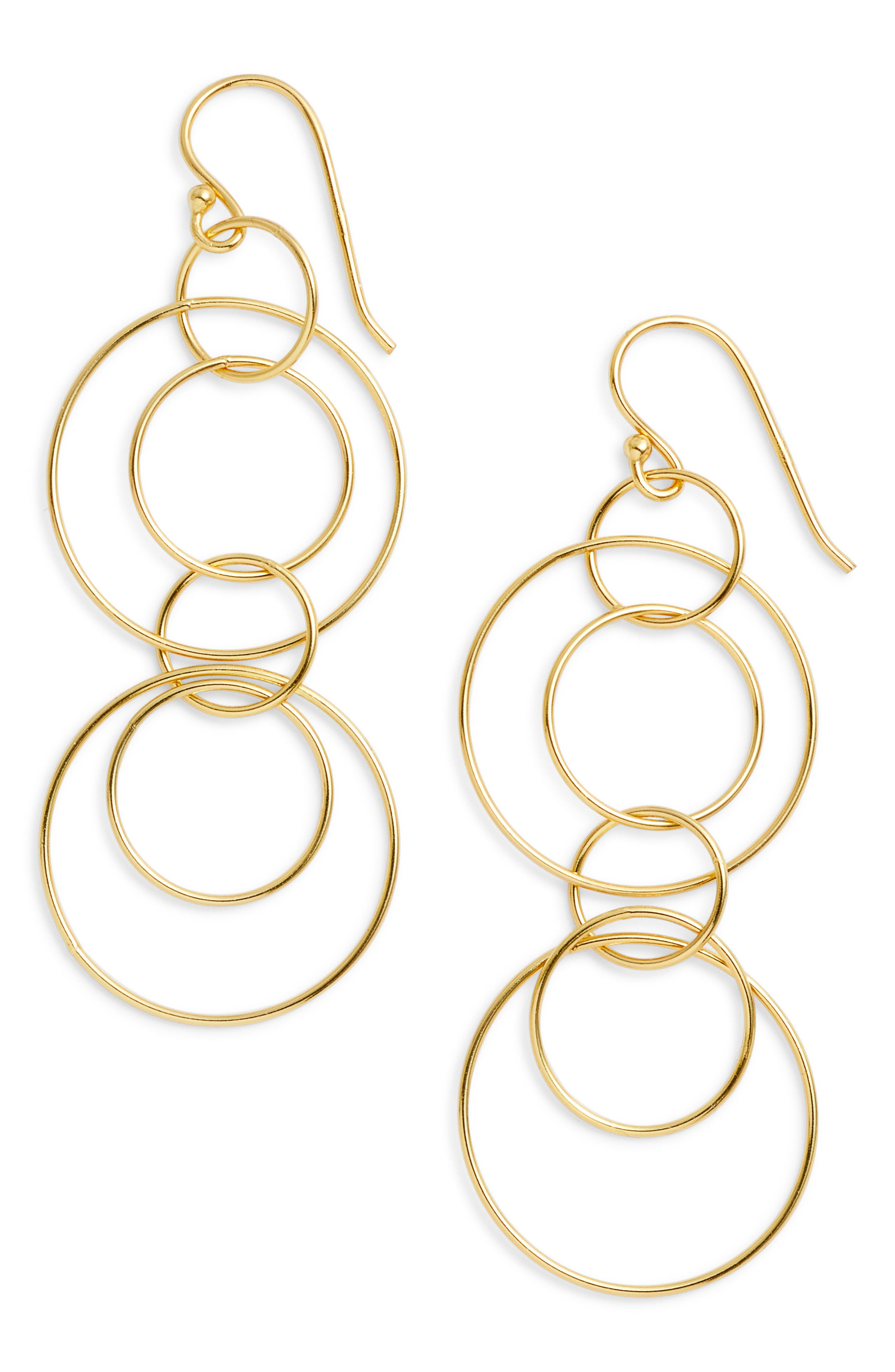 Argento Vivo Orbital Drop Earrings