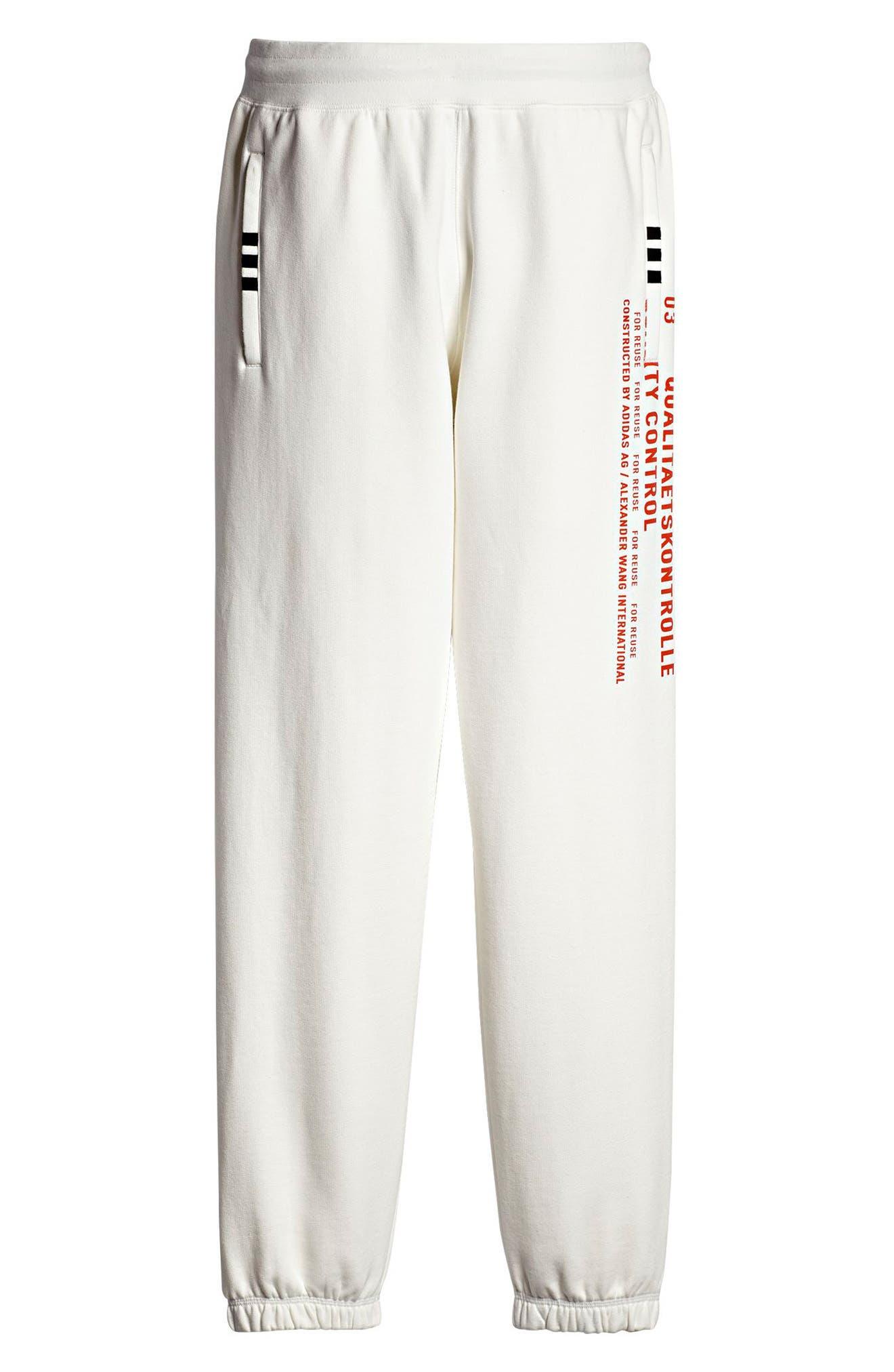 Graphite Jogger Pants,                             Alternate thumbnail 7, color,                             White/ Orange/ Black