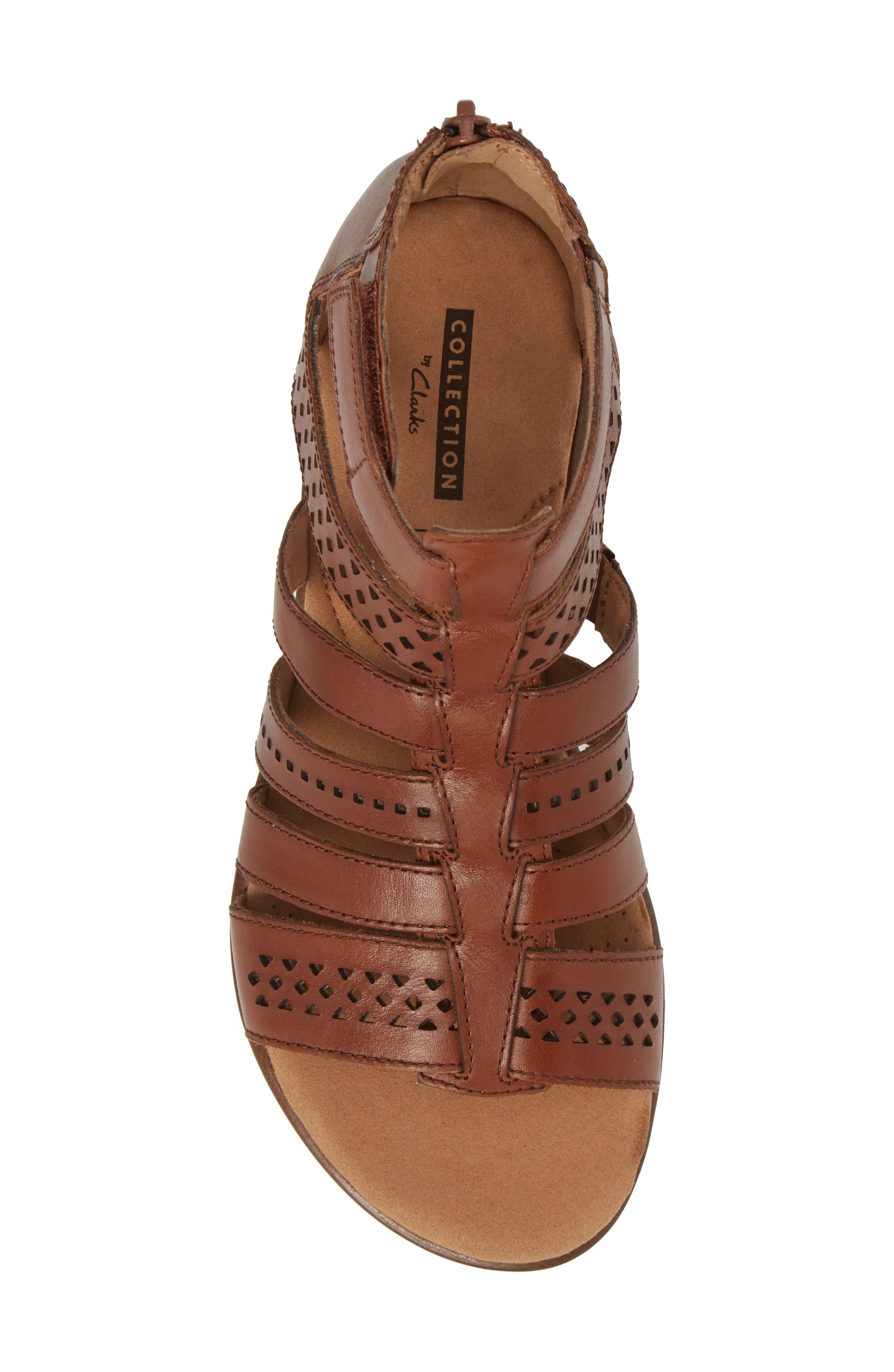 Kele Lotus Sandal,                             Alternate thumbnail 5, color,                             Beige Leather