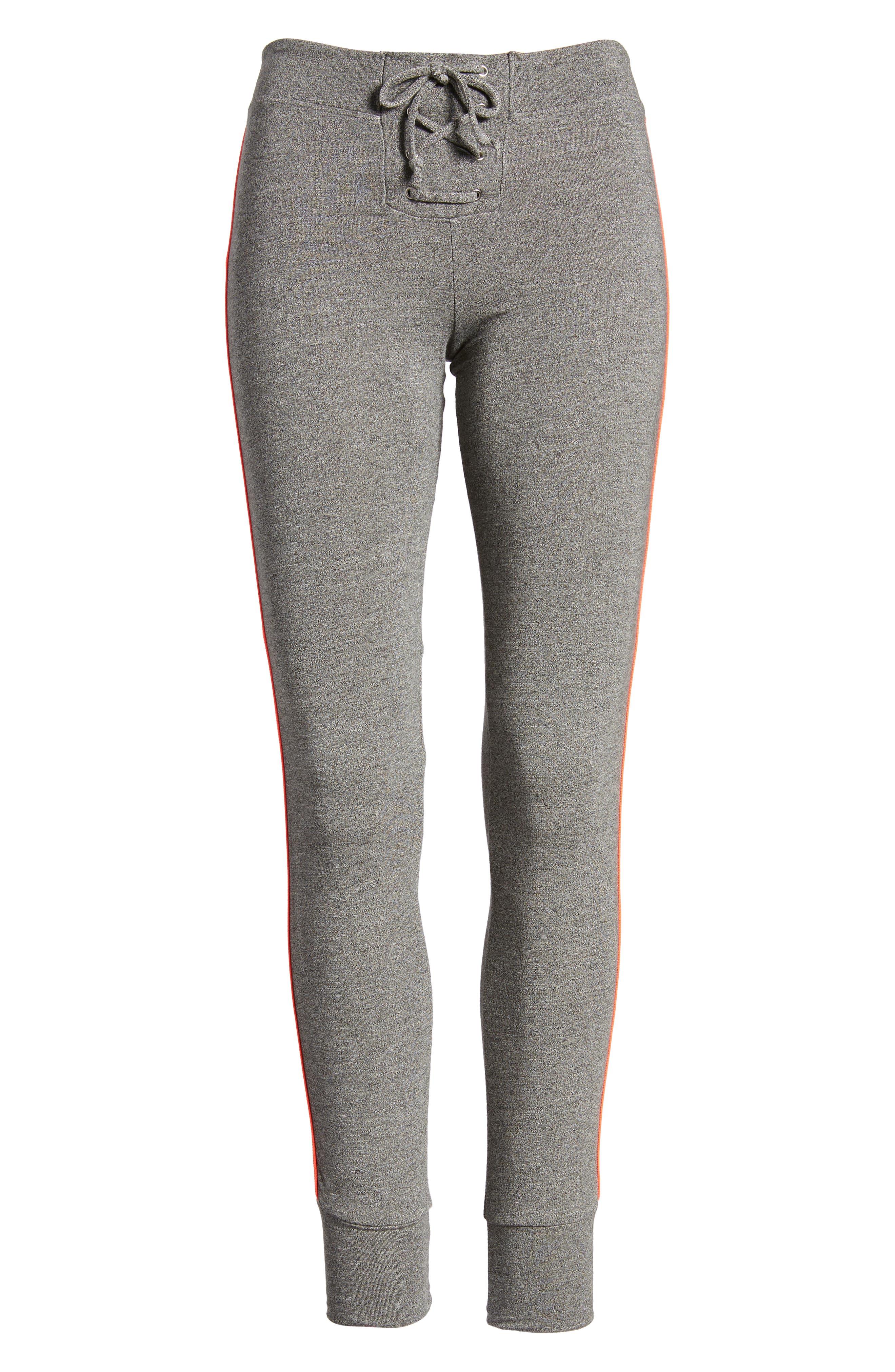 Alternate Image 6  - Sundry Lace-Up Skinny Sweatpants
