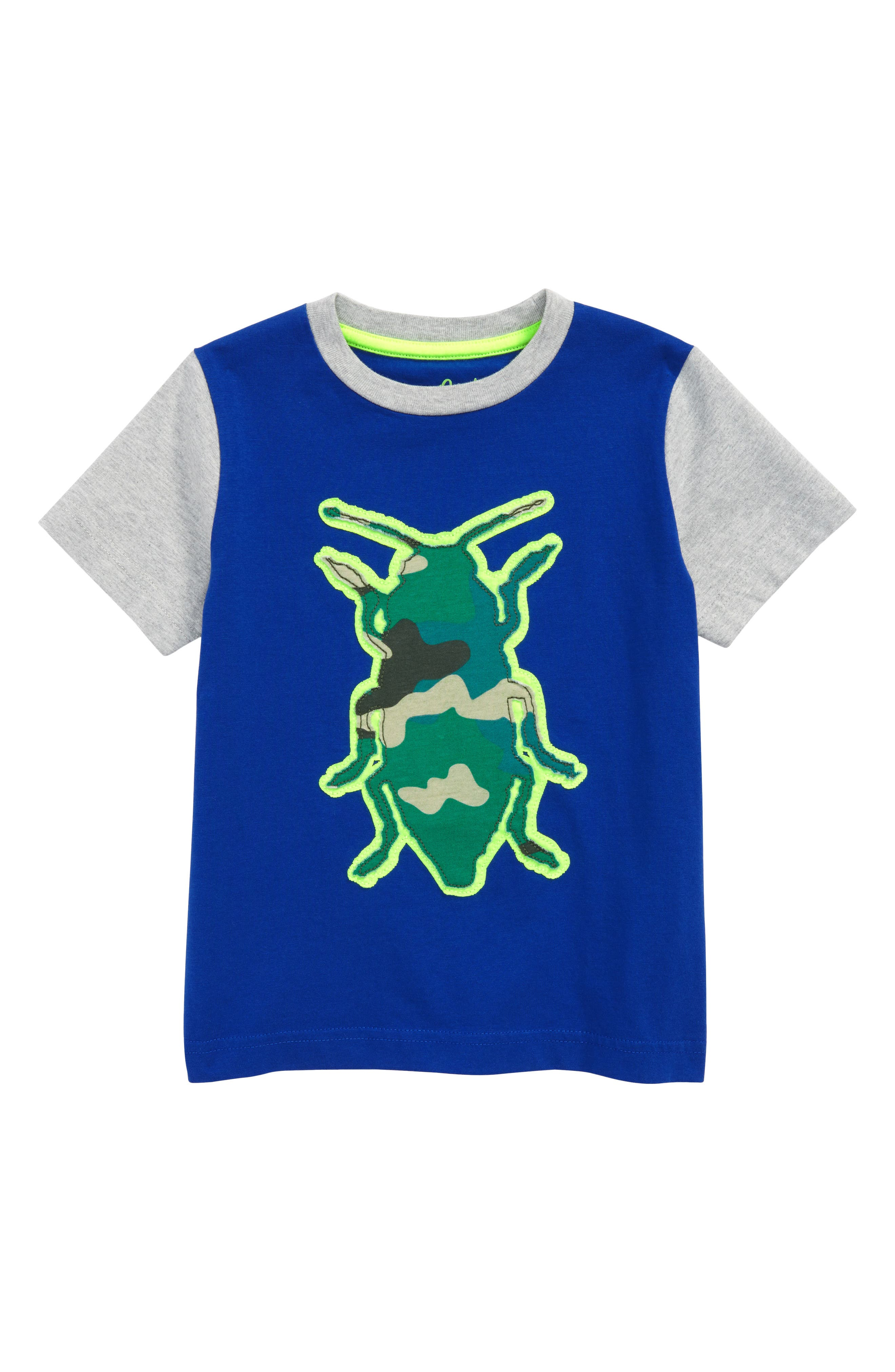 Beetle Patchwork T-Shirt,                             Main thumbnail 1, color,                             Orion Blue Beetle