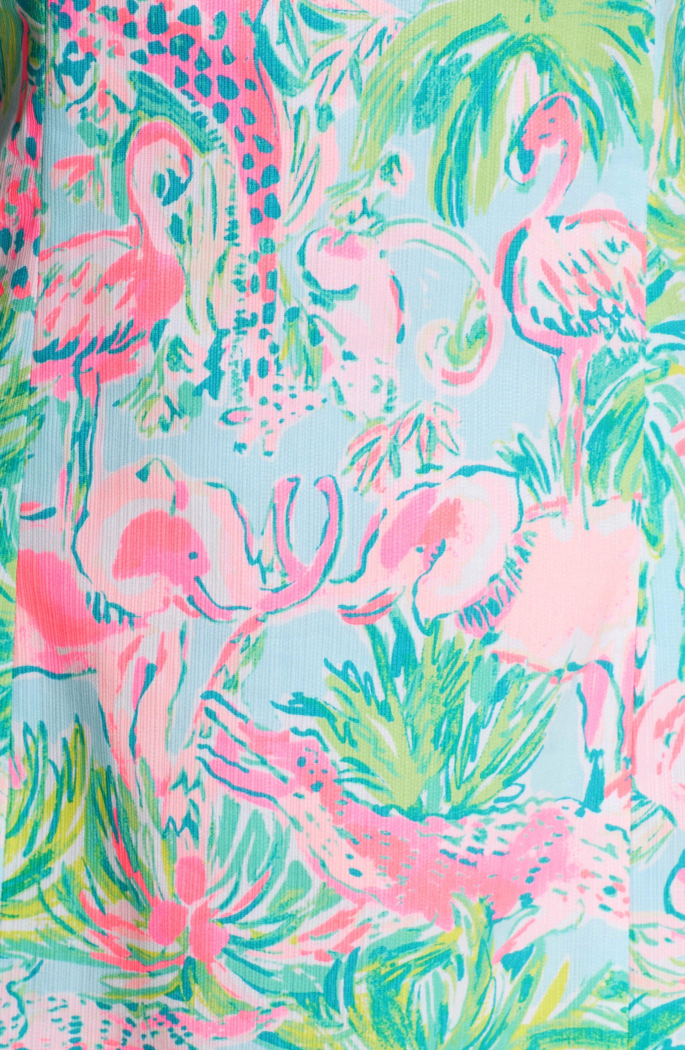 Mila Cotton Minidress,                             Alternate thumbnail 5, color,                             Seasalt Blue On Parade