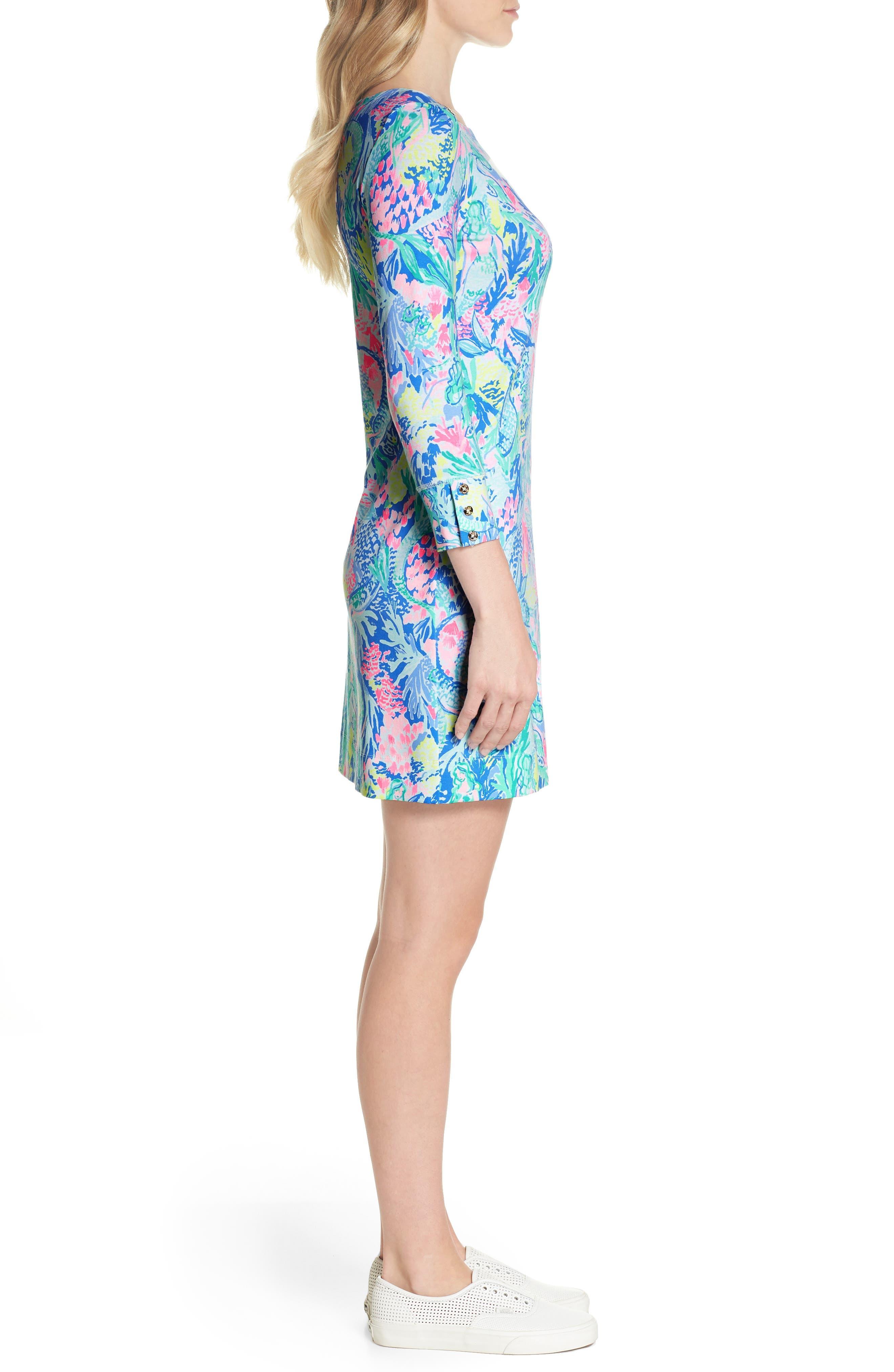 Sophie UPF 50+ Shift Dress,                             Alternate thumbnail 3, color,                             Multi Mermaids Cove