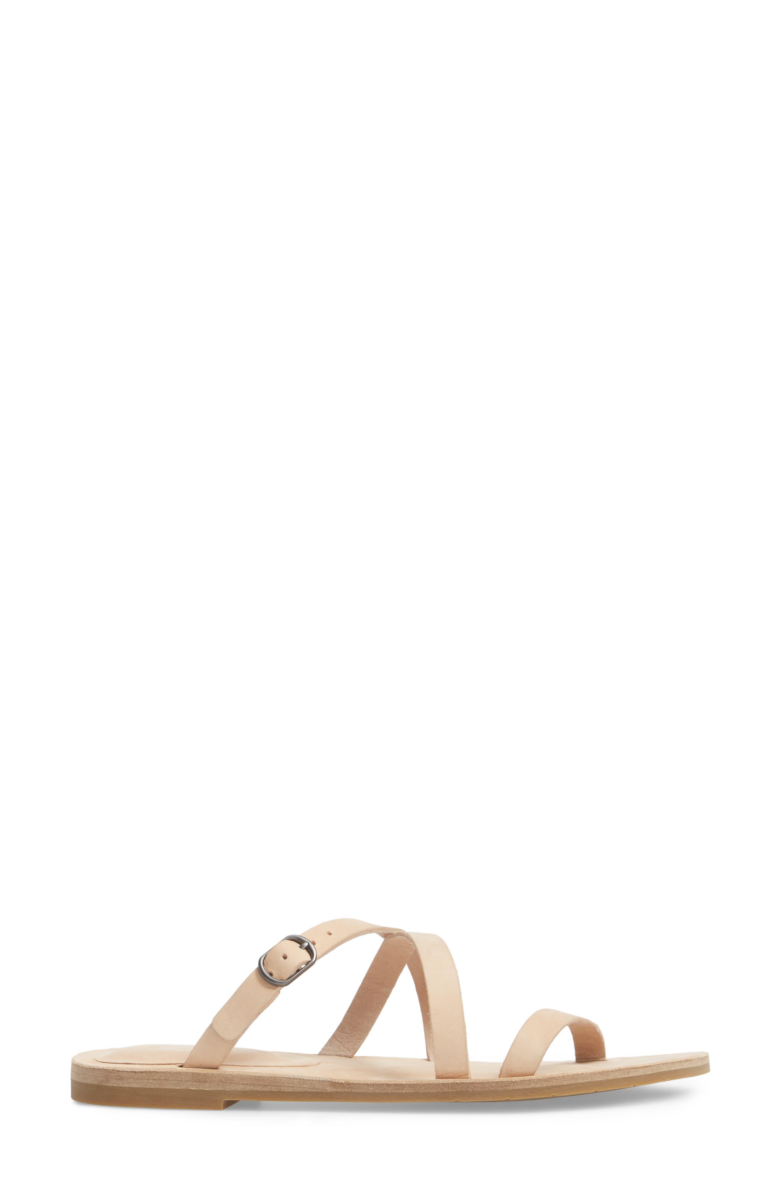 Dali Strappy Slide Sandal,                             Alternate thumbnail 3, color,                             Cream Nubuck