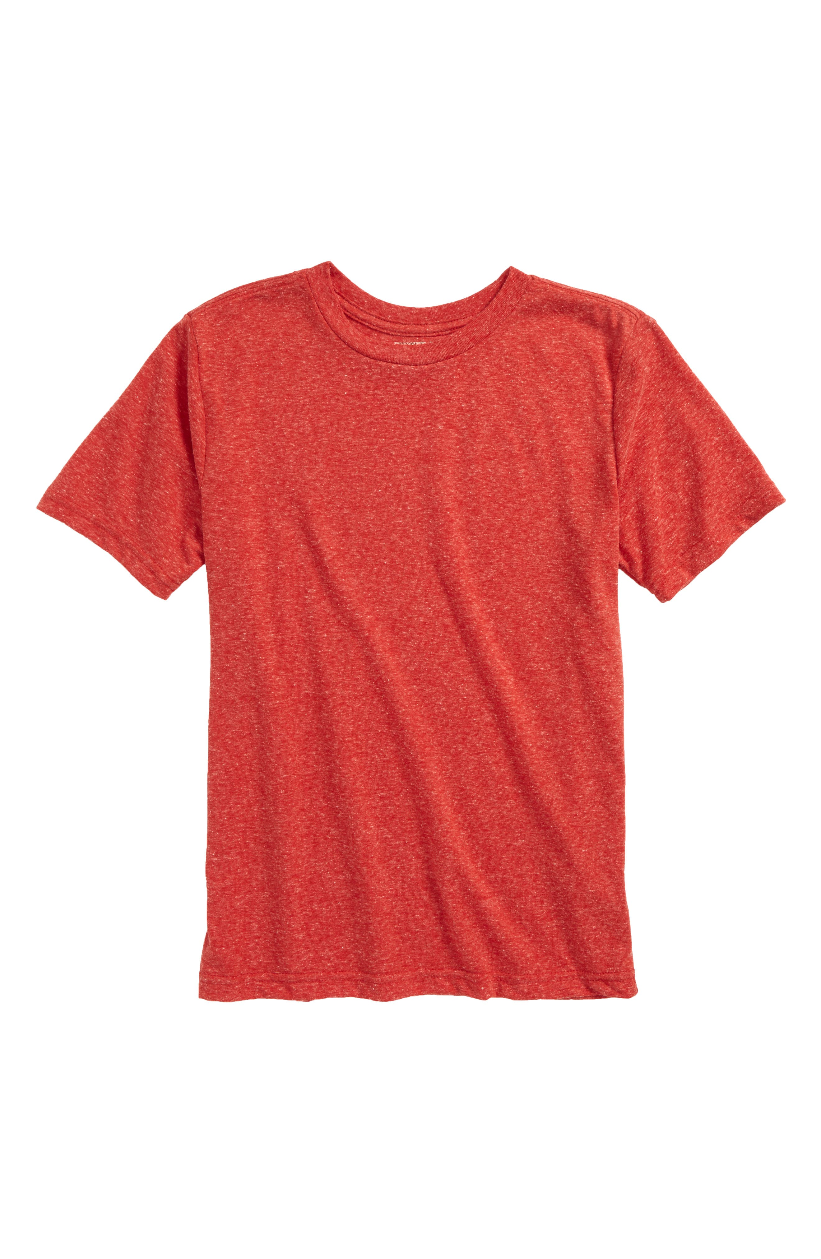 Basic T-Shirt,                         Main,                         color, Red Samba
