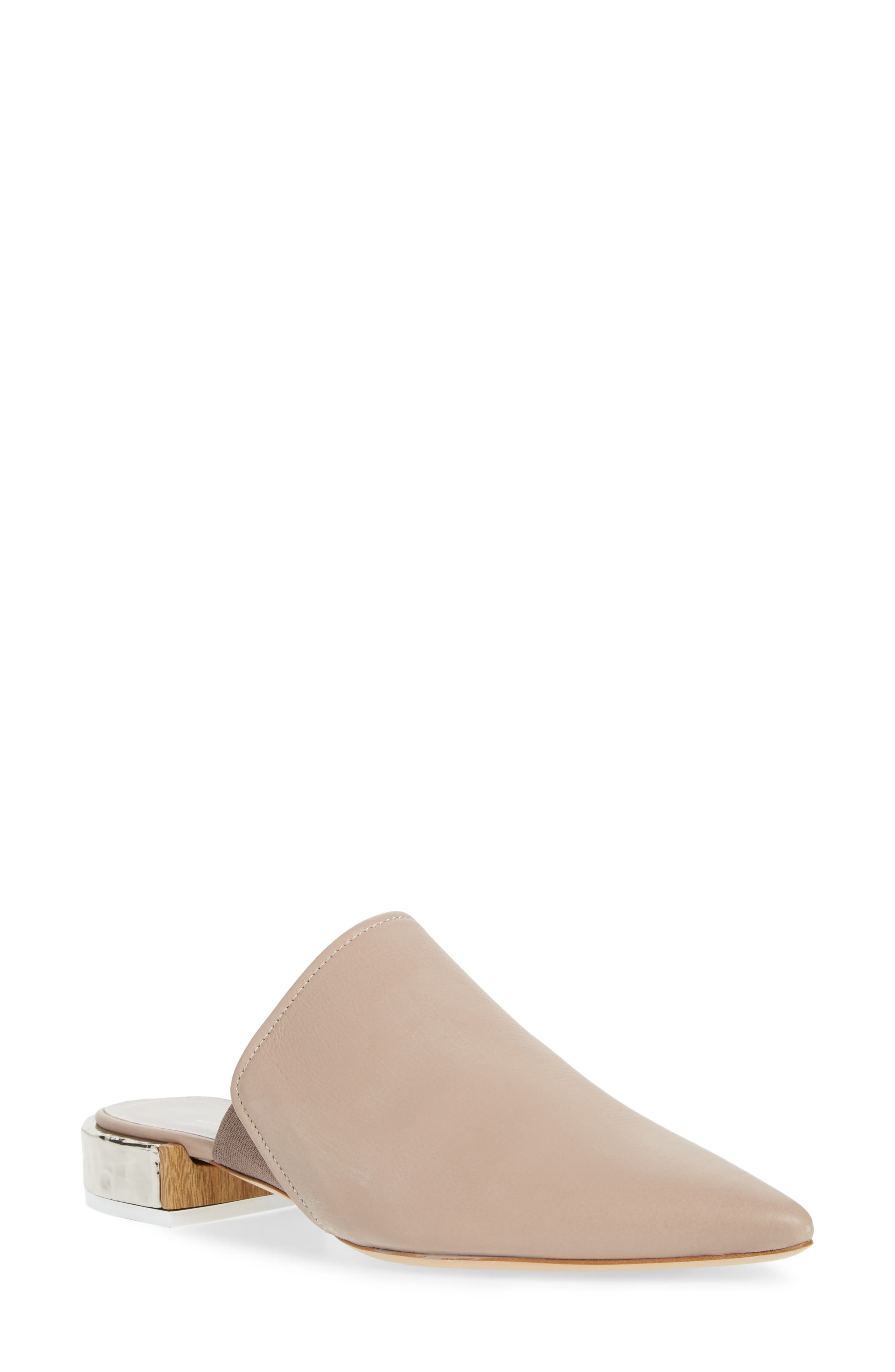 Pointed Toe Mule,                         Main,                         color, Marble Leather