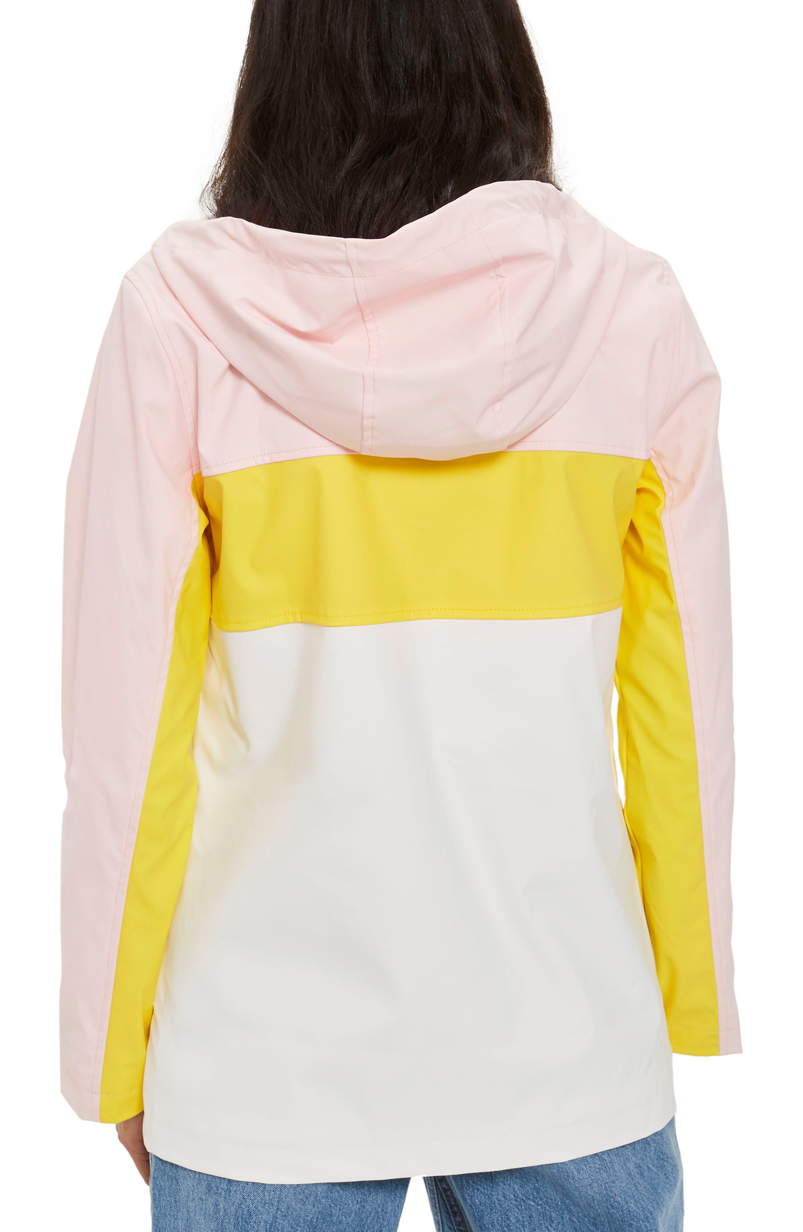Colorblock Rain Mac Jacket,                             Alternate thumbnail 2, color,                             Pink Multi