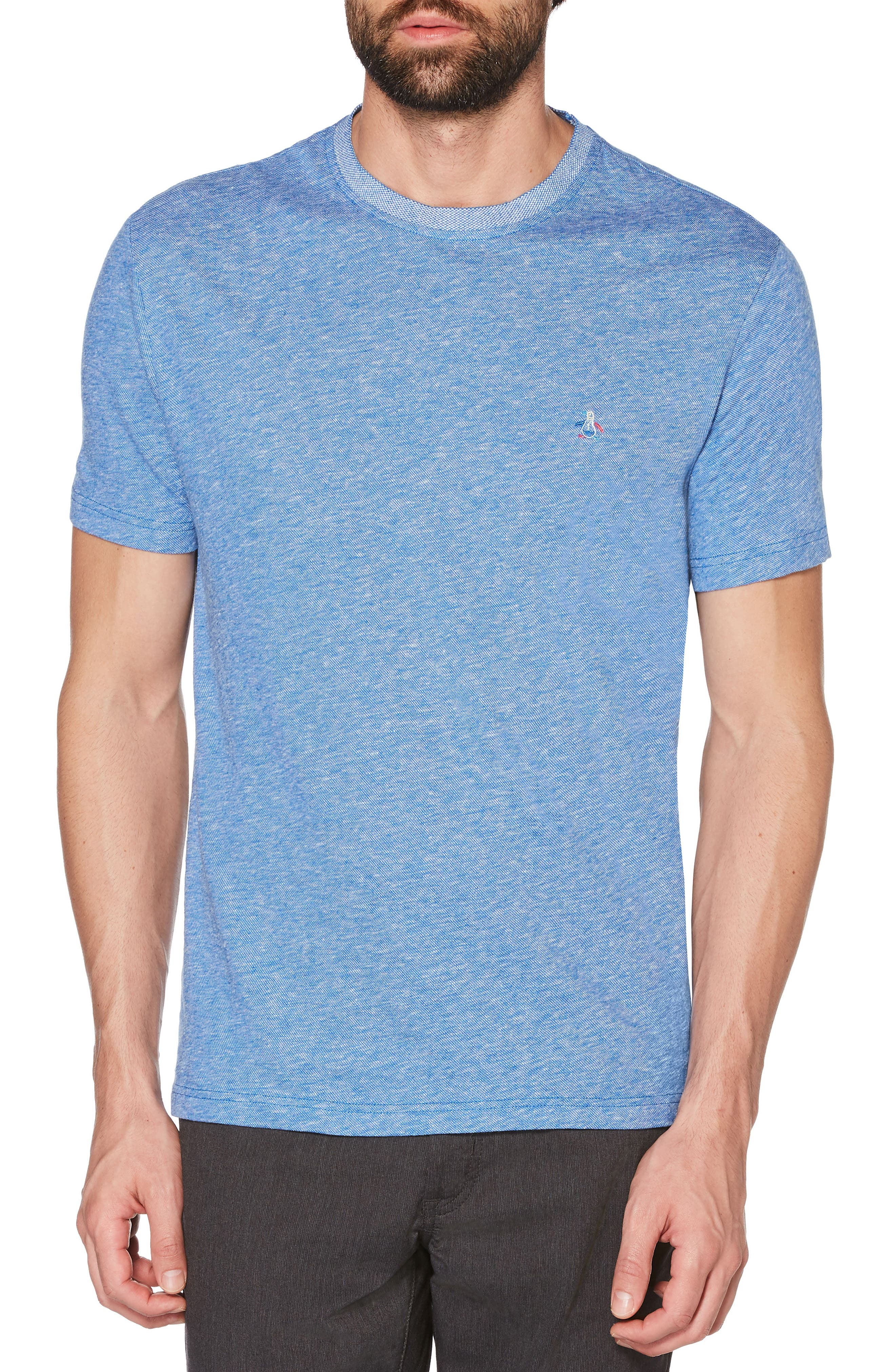 Crewneck T-Shirt,                         Main,                         color, Turkish Sea
