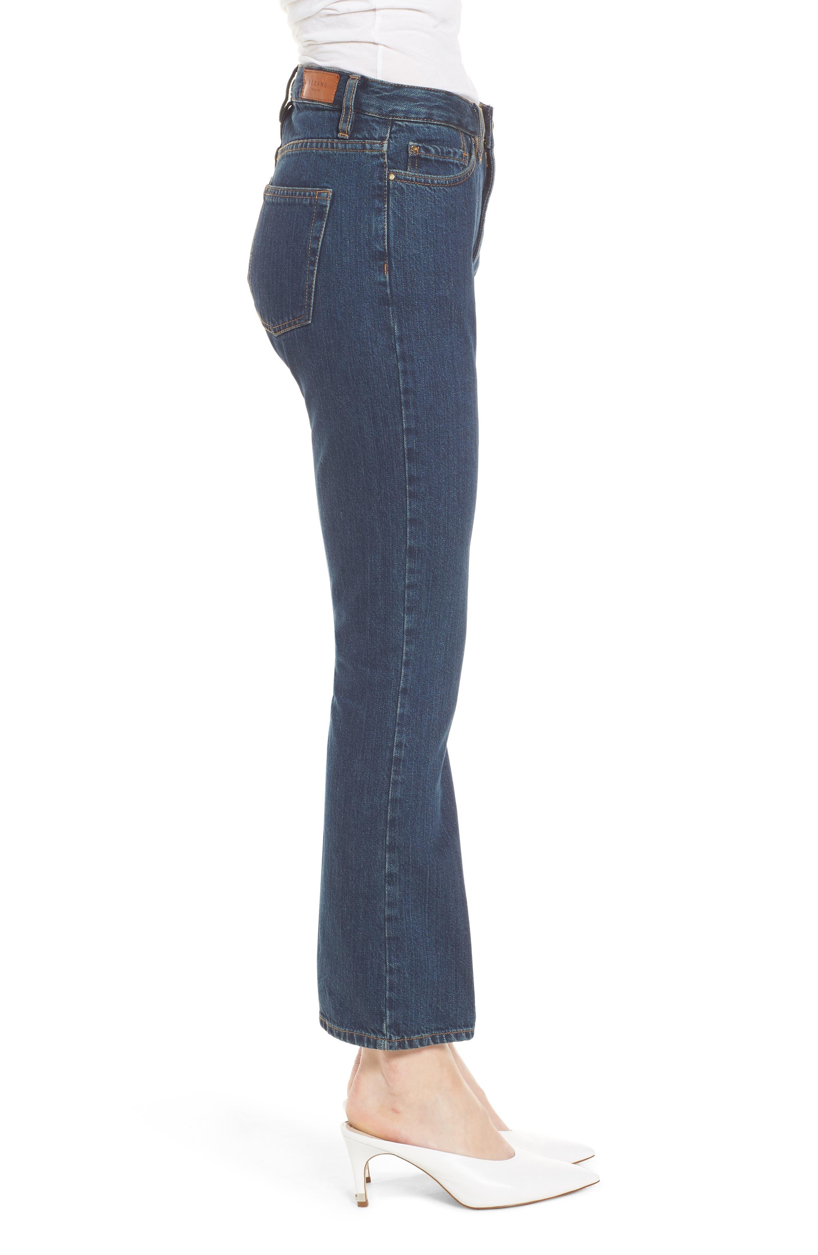 1970 The Flared Crop Jeans,                             Alternate thumbnail 3, color,                             Blue Denim