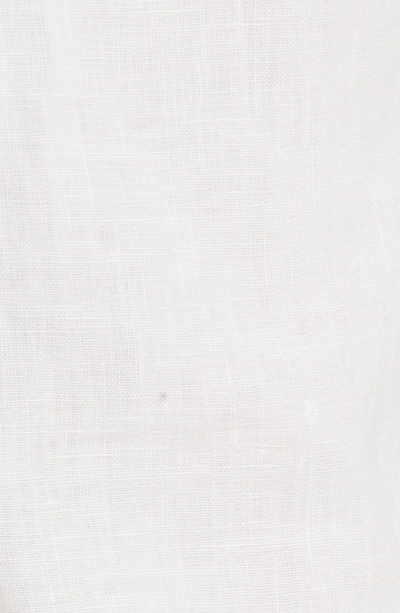 Florimel Crop Linen Jogger Pants,                             Alternate thumbnail 5, color,                             Porcelain