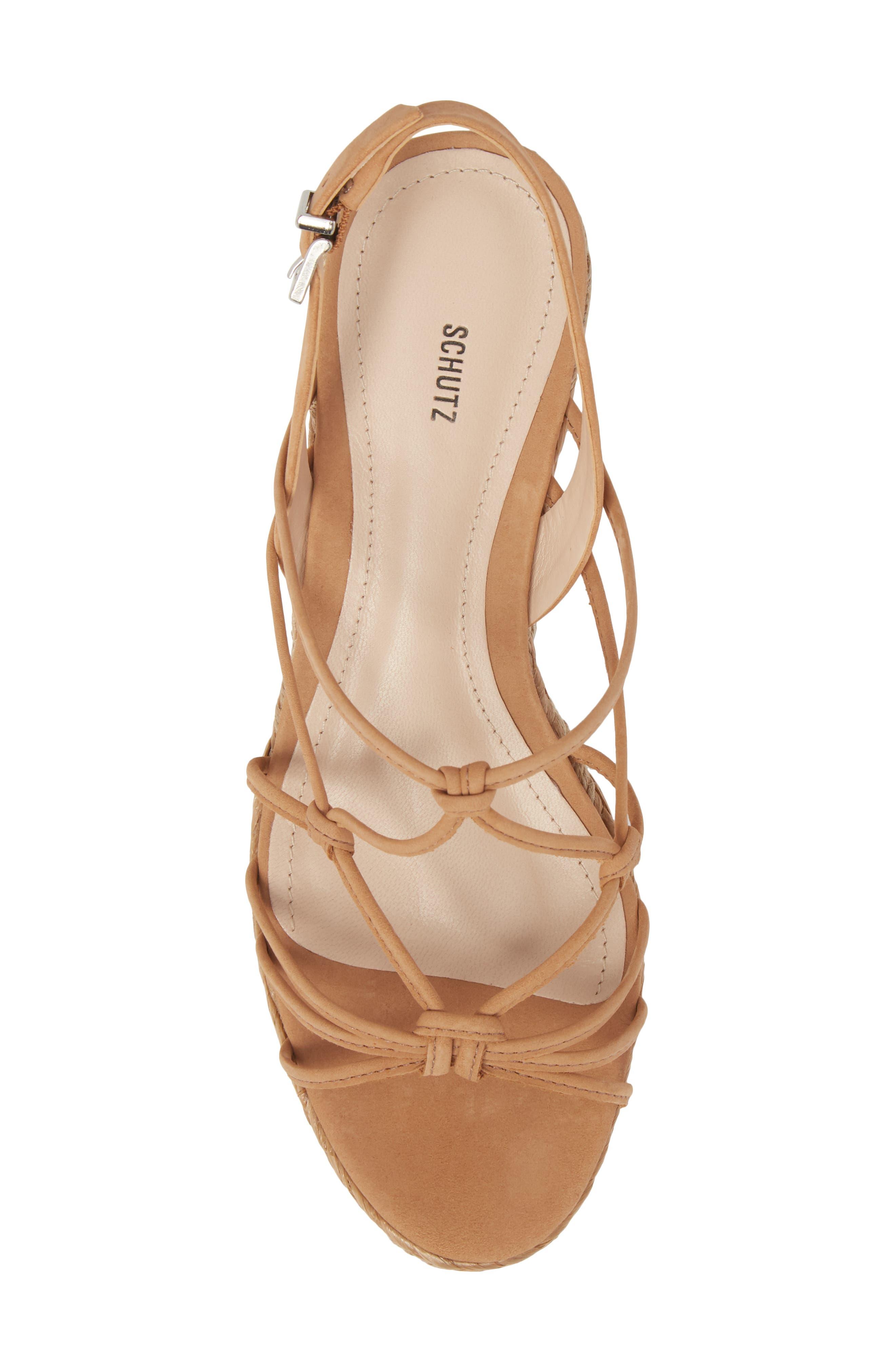 Latussa Platform Espadrille Sandal,                             Alternate thumbnail 5, color,                             Desert Leather
